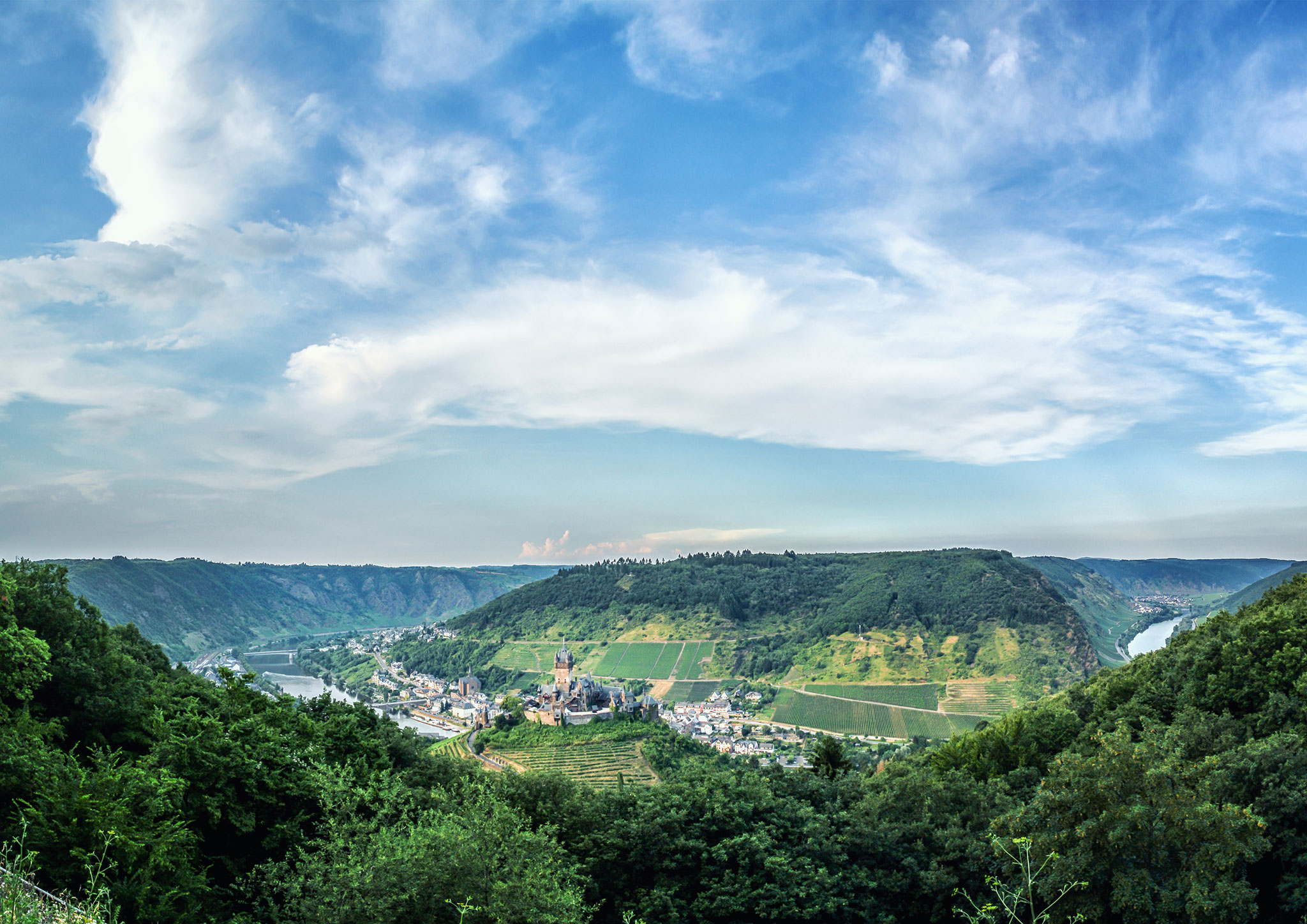 View down to Imperial Castle, Germany