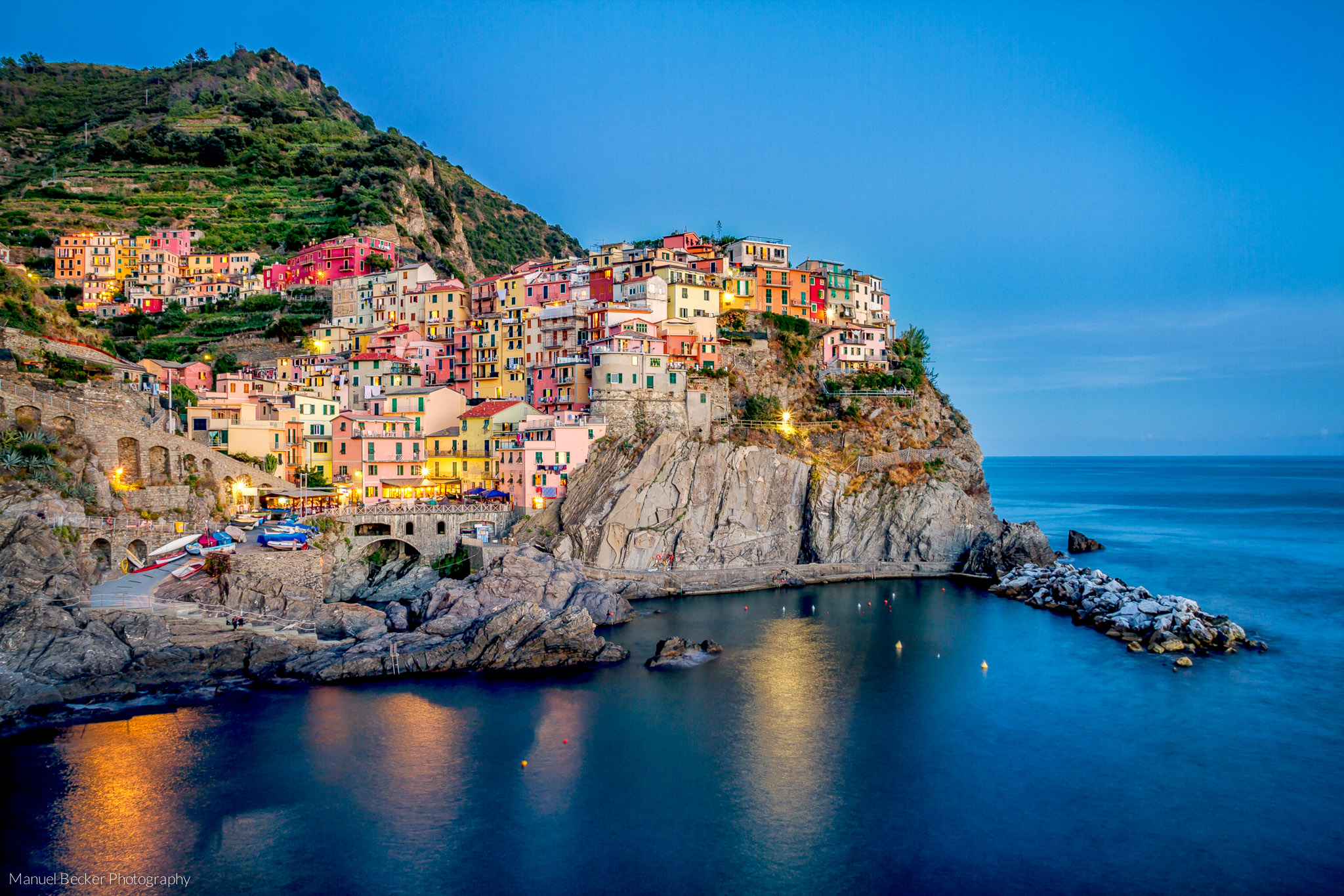 Manarola in the evening, Cinque Terre, Italy
