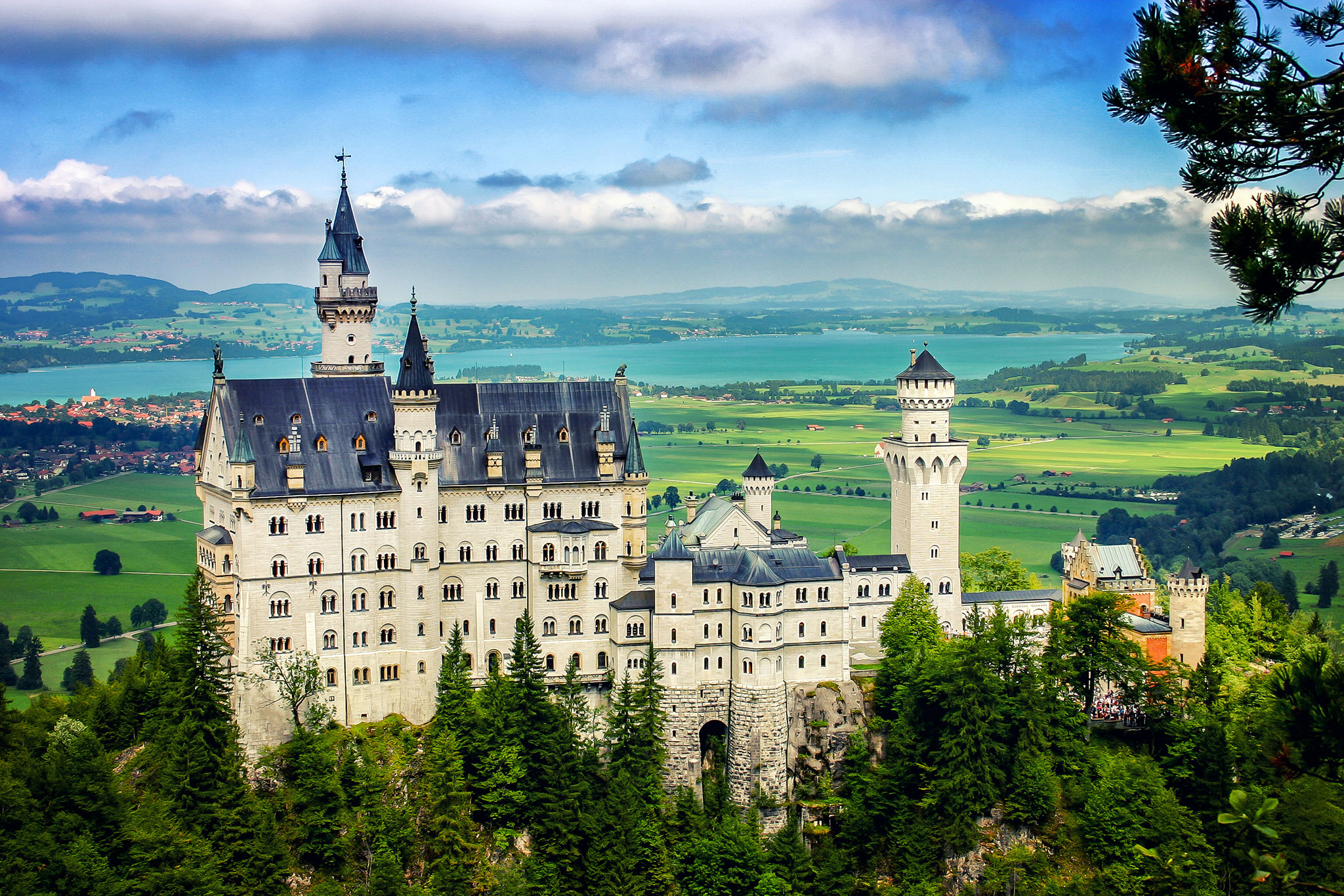 Neuschwanstein Castle from Marienbridge, Germany