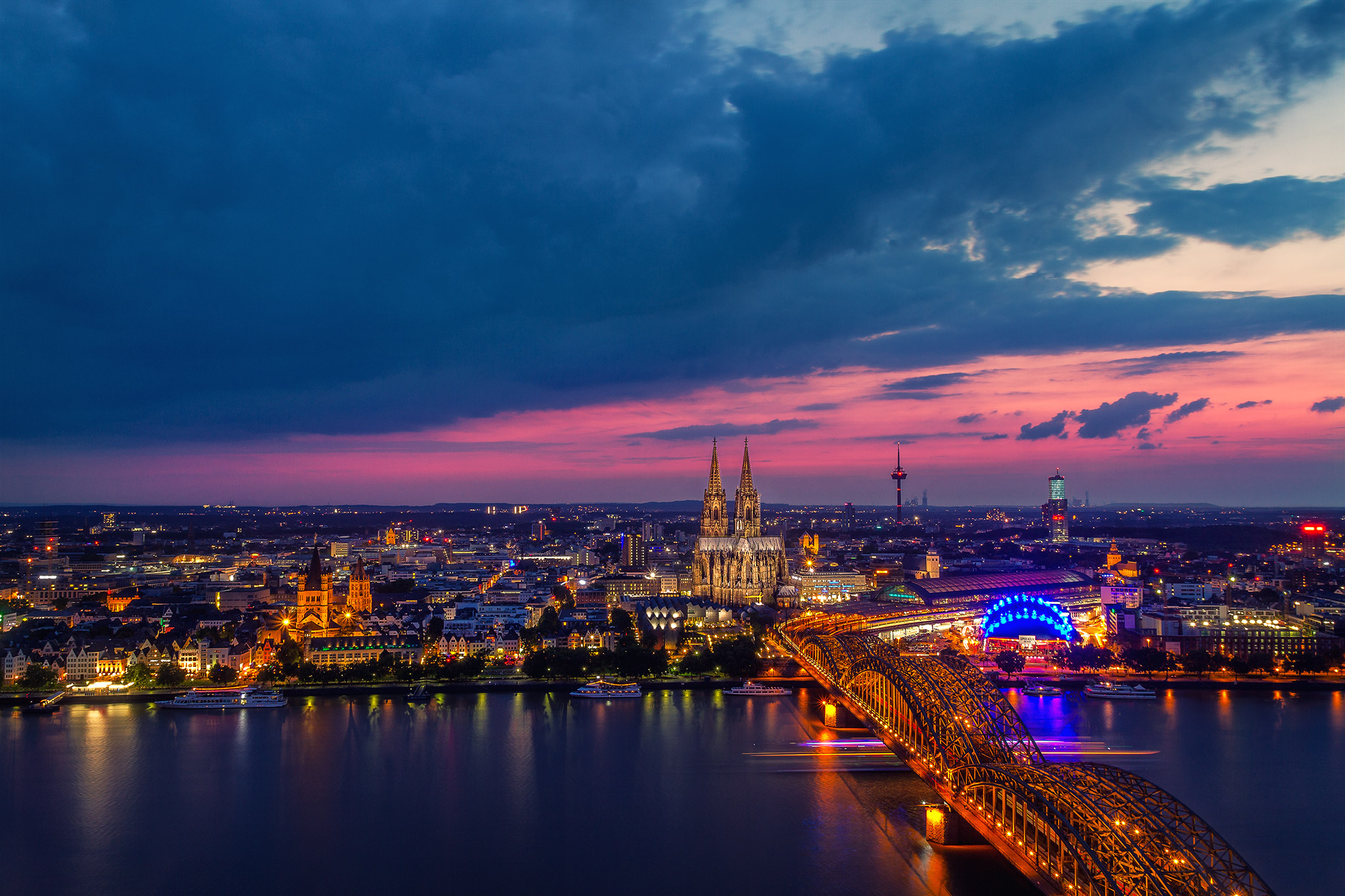 View from Triangle Tower in Cologne, Germany