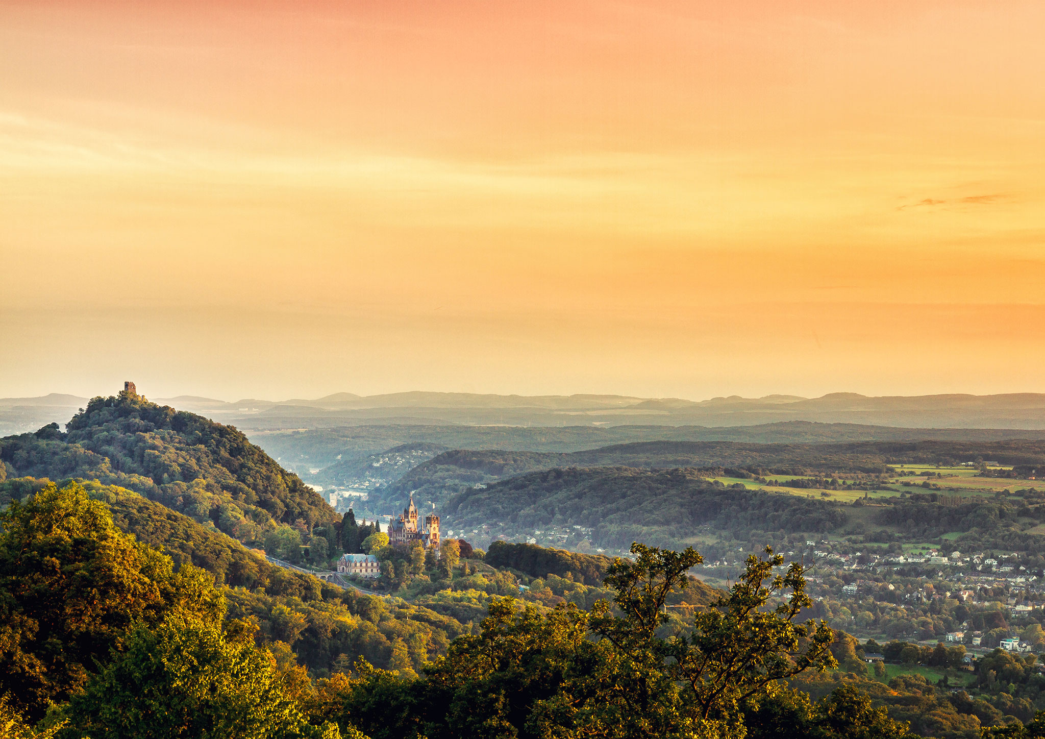 View to Drachenfels, Germany