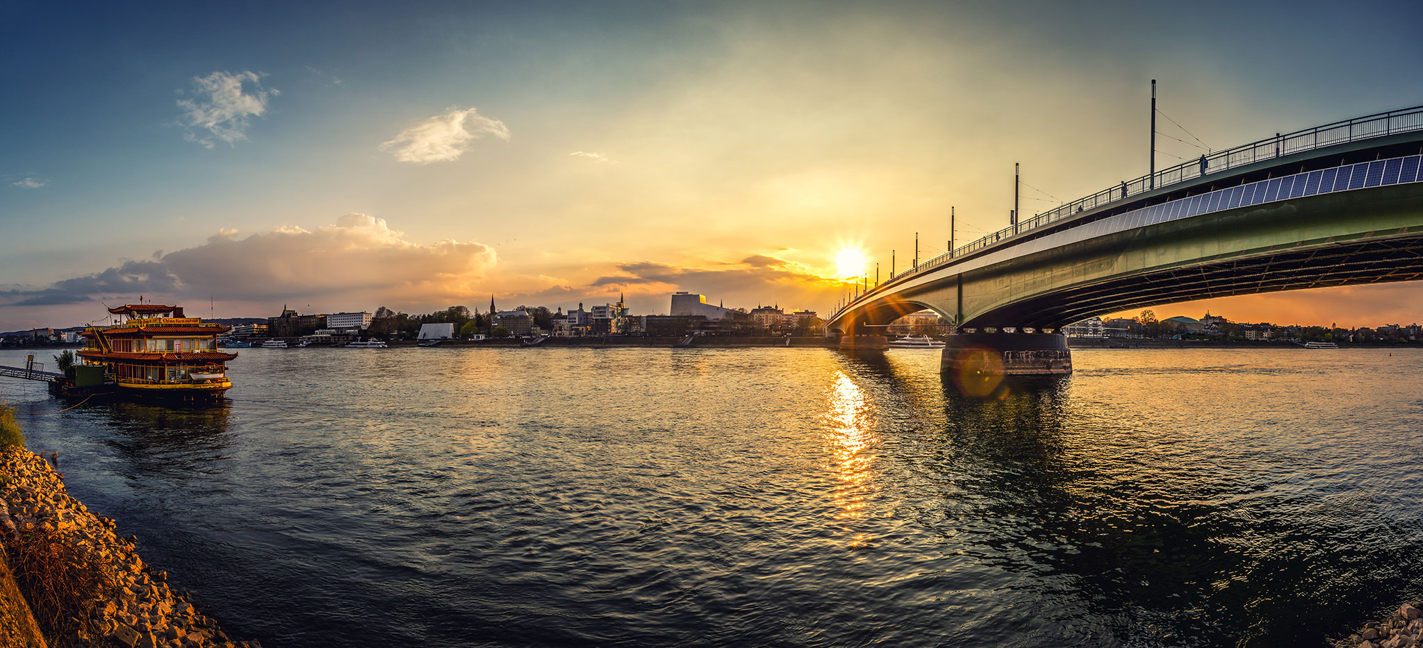 Sunset at Kennedy Bridge, Bonn, Germany