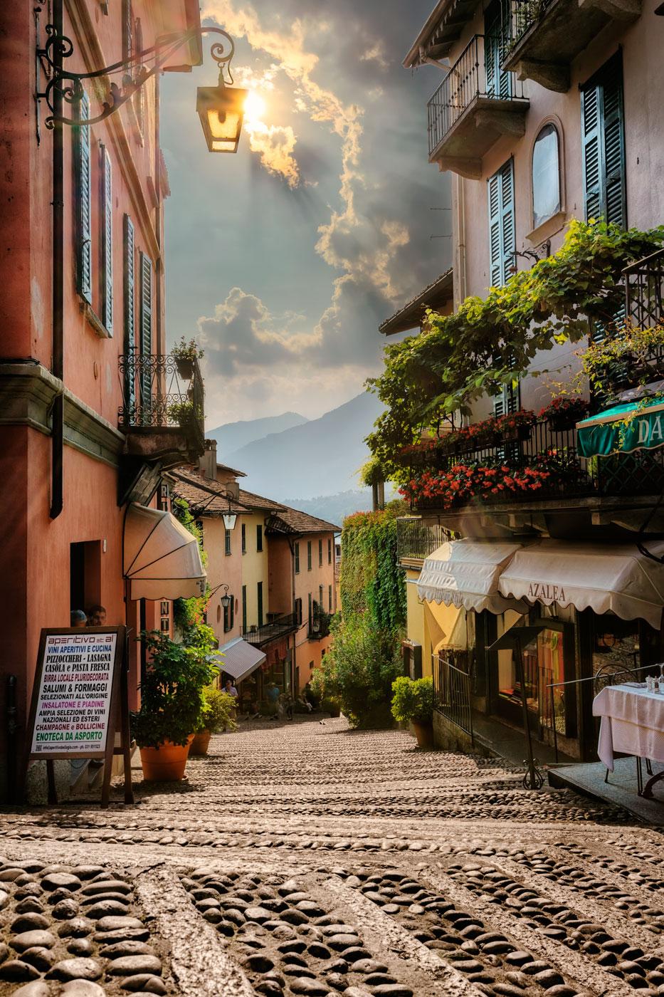 Bellagio - scalinata serbelloni, Italy