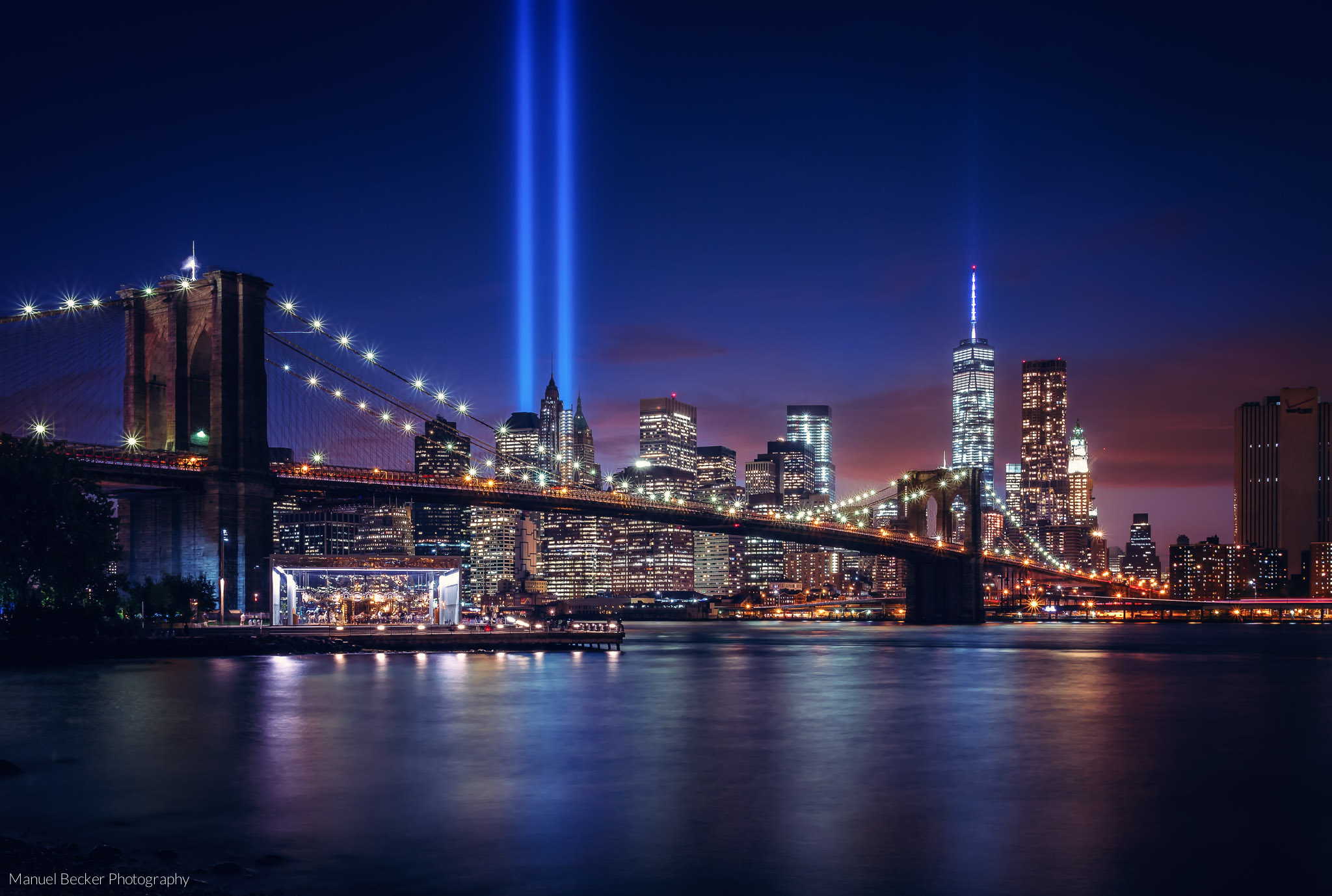 Brooklyn Bridge skyline, New York, USA
