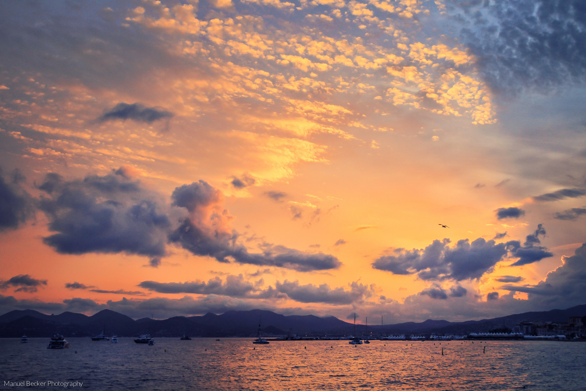 Sunset at Cannes, France