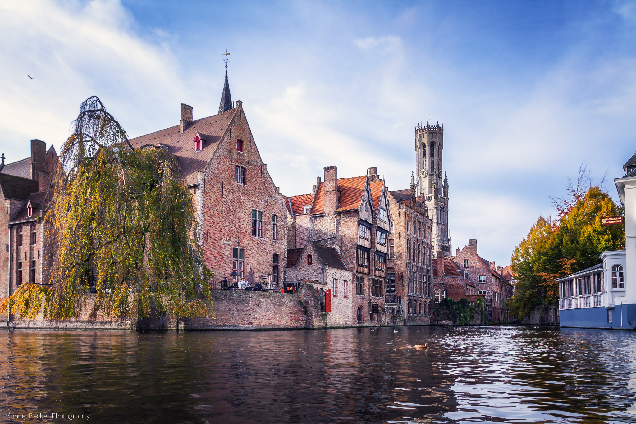 Typical view of Bruges, Belgium