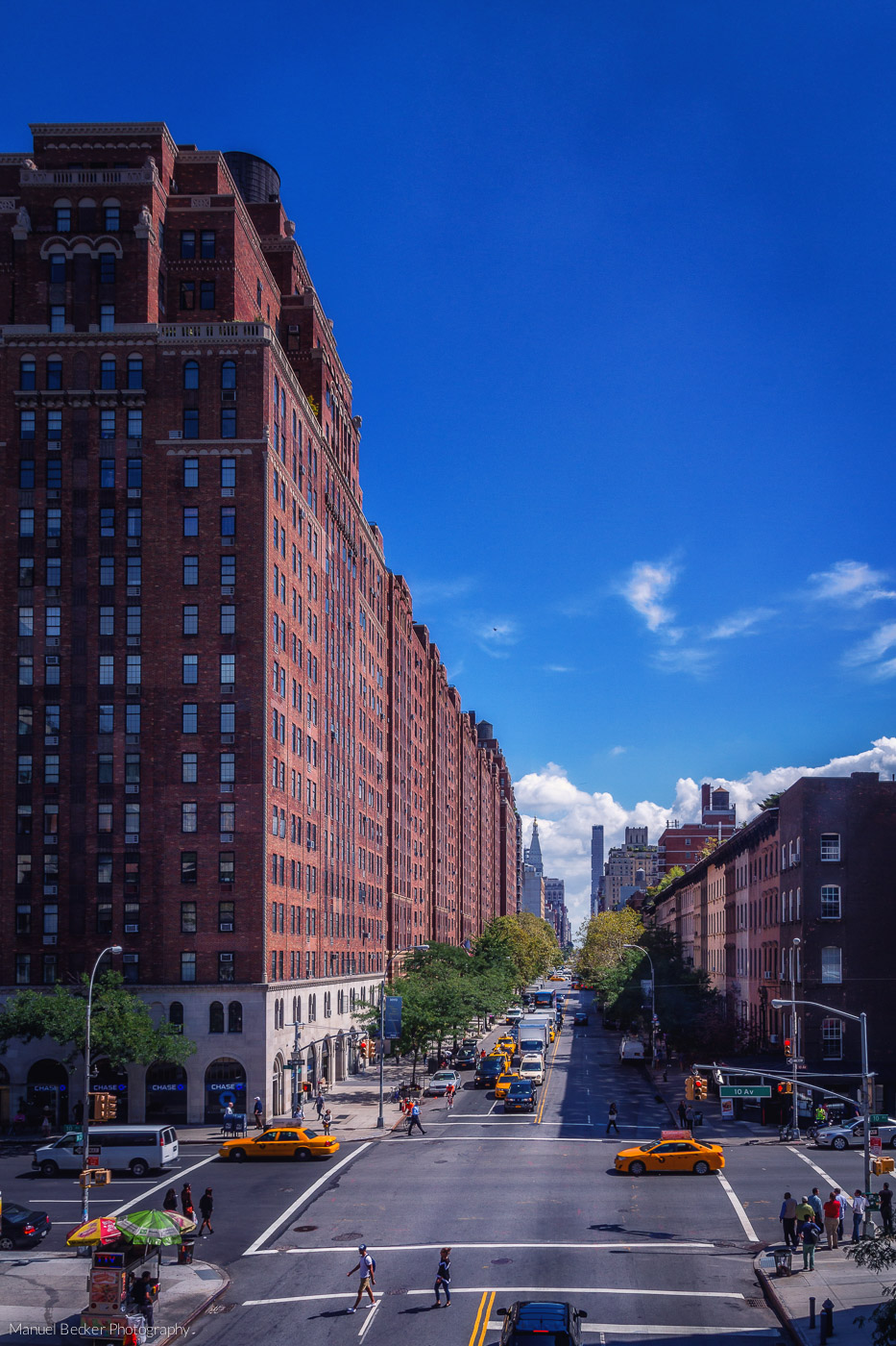 View from High Line Park, New York, USA