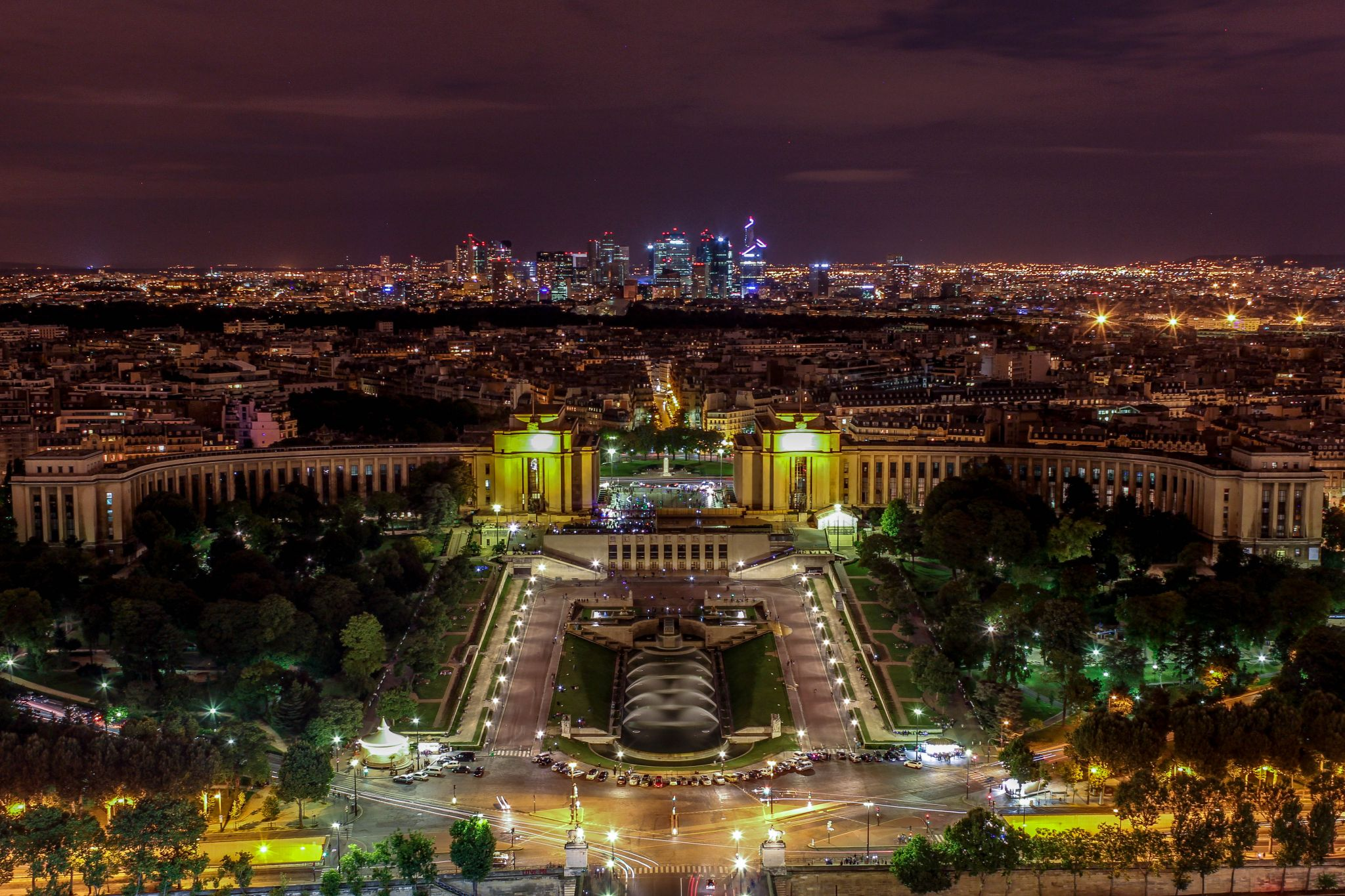 Paris City view from Eiffel tower, France