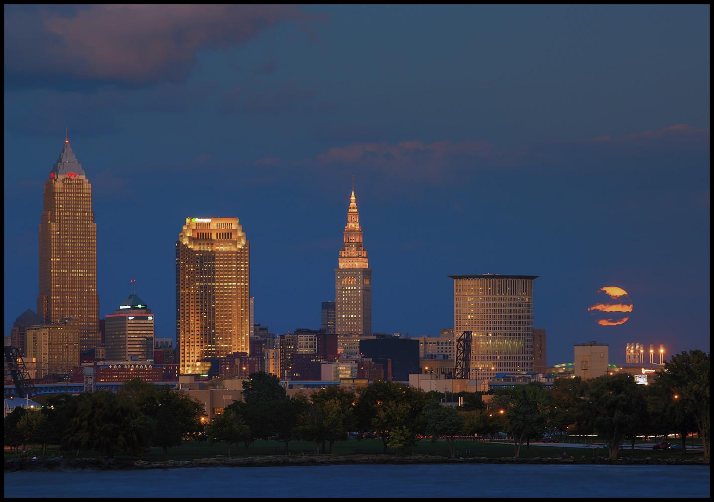 Moonrise Over Cleveland, USA