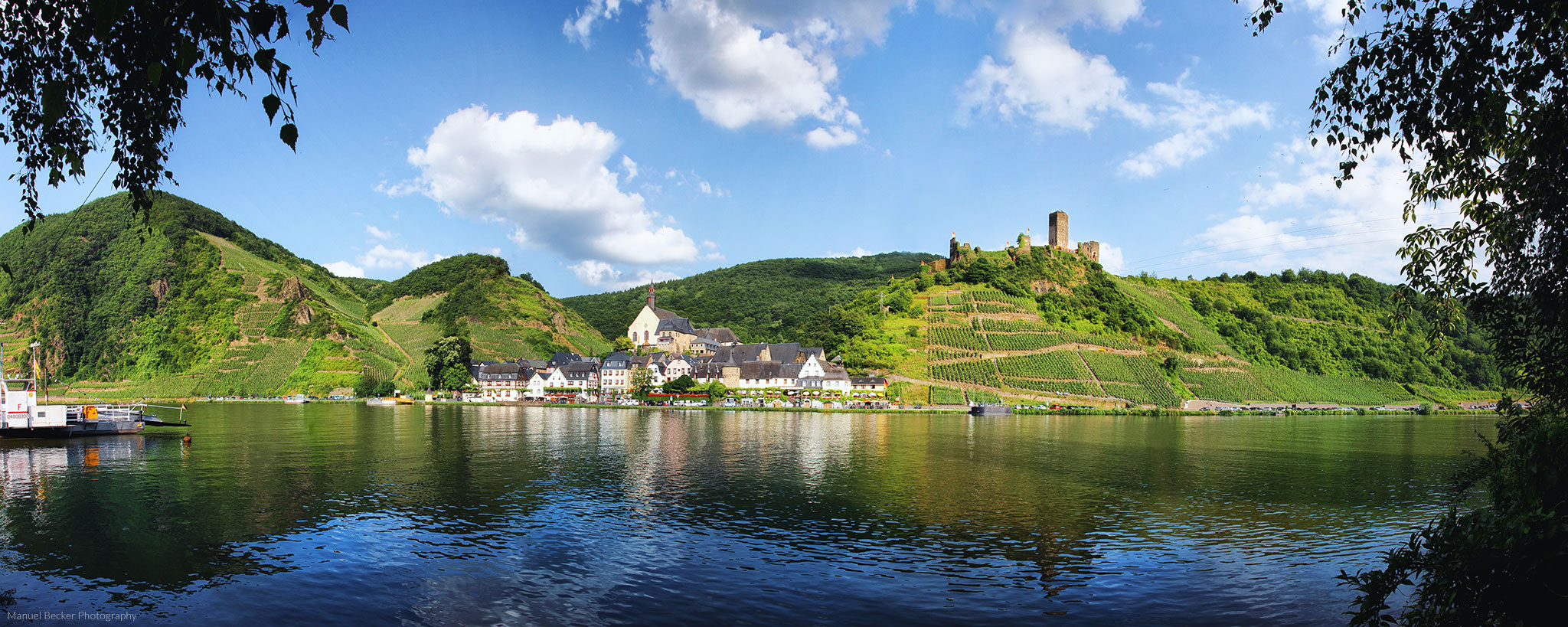Panorama of Beilstein at Moselle, Germany