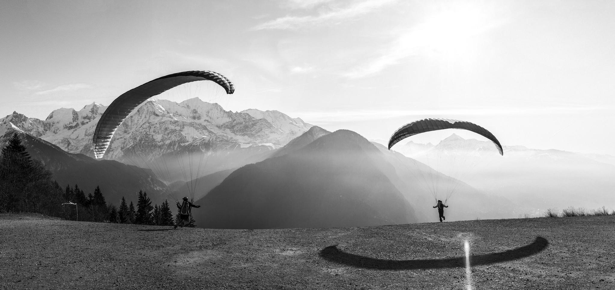 Plaine-Joux paragliding departure, France