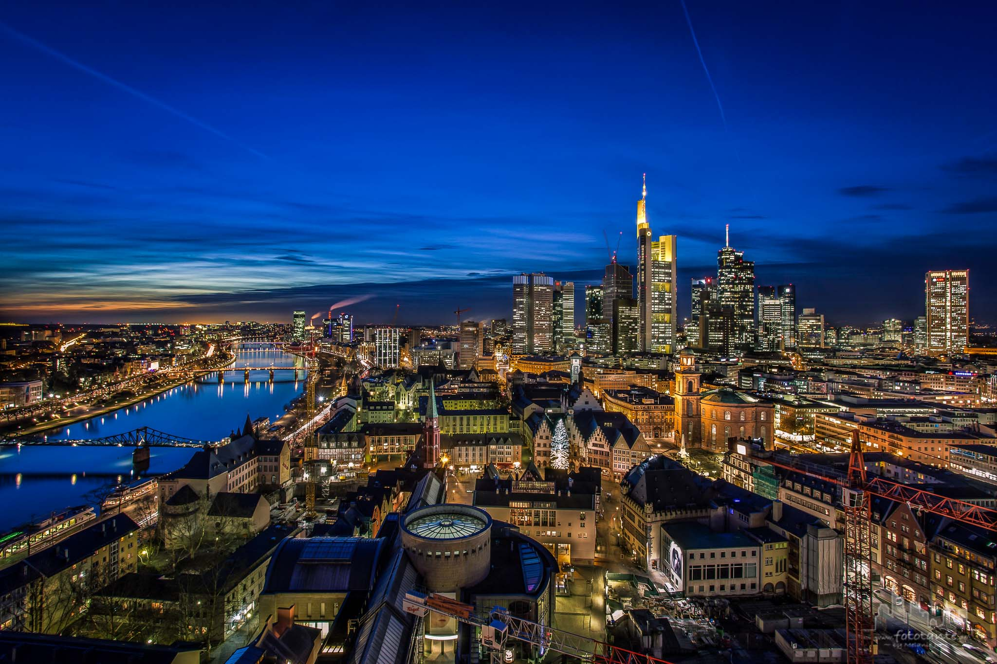 View from Frankfurt Cathedral 'St. Bartholomew', Germany
