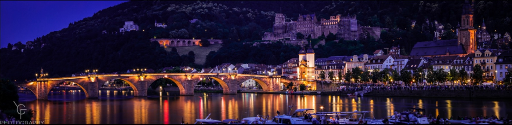 Heidelberg River and Castle, Germany