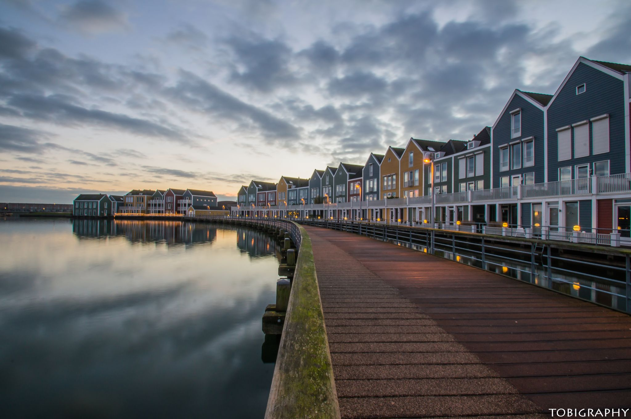 Colorful houses at Houten, Netherlands