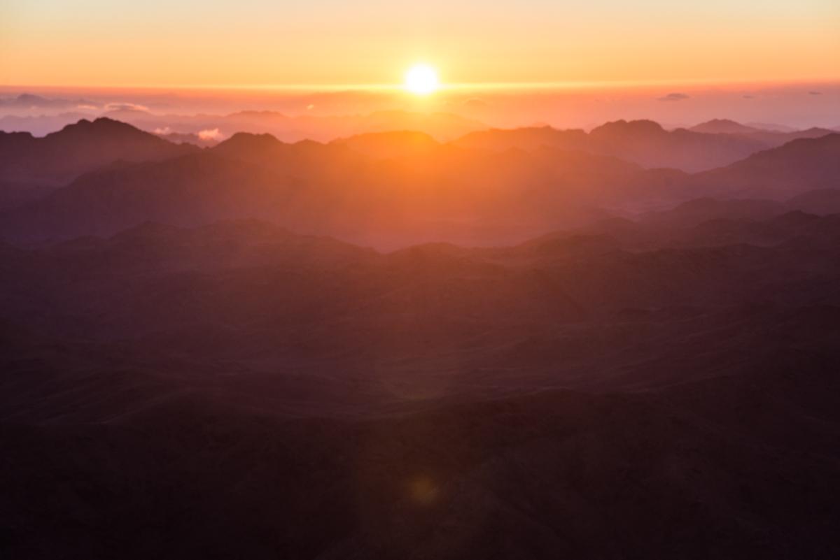 Mount Sinai Sunrise, Egypt