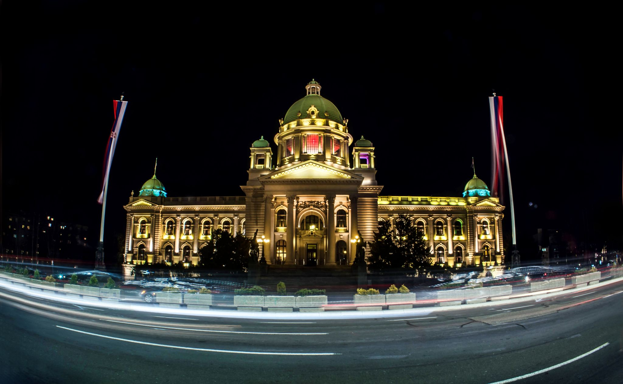 The House of the National Assembly of Serbia, in Belgrade, Serbia