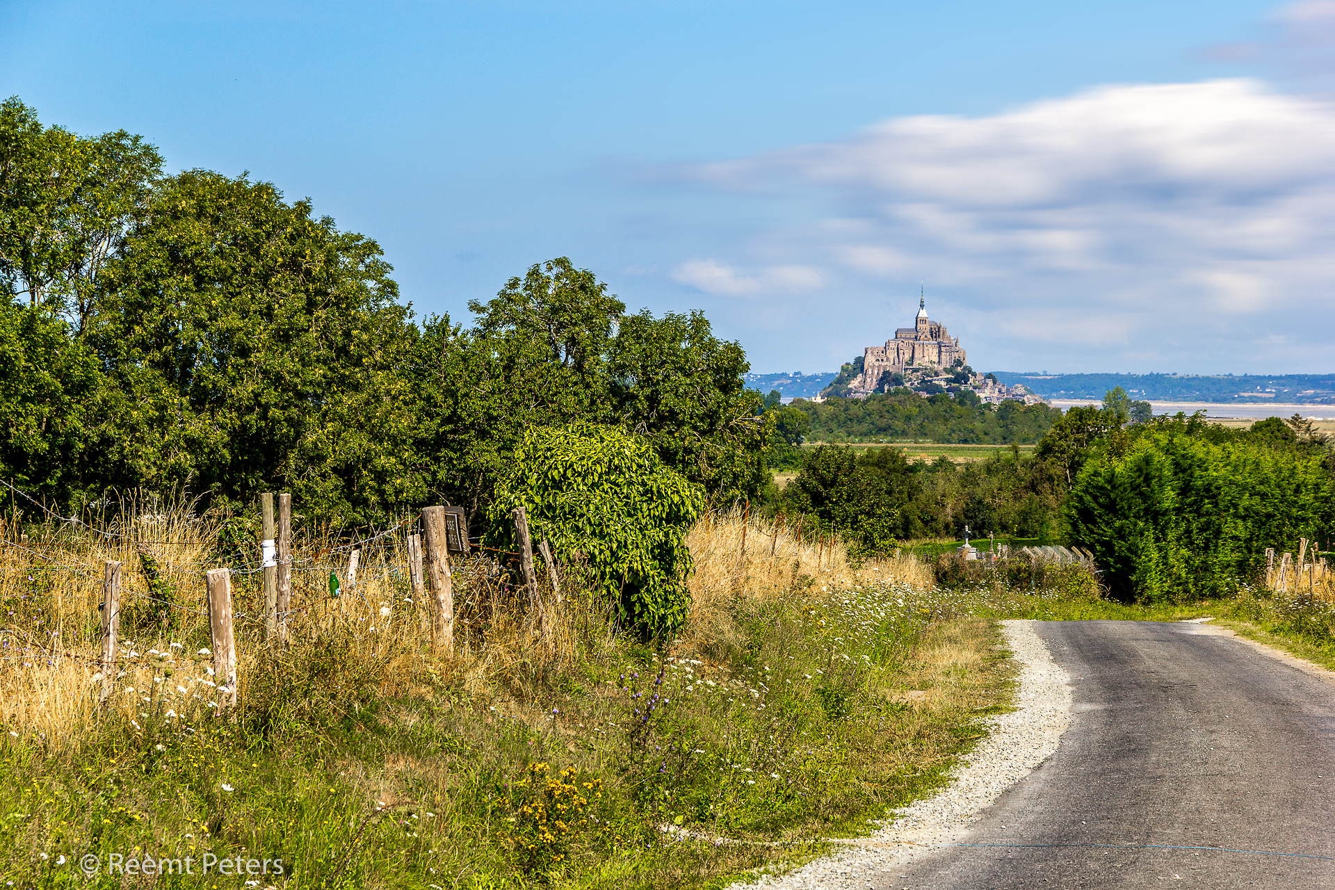 The road to Saint-Michel, France