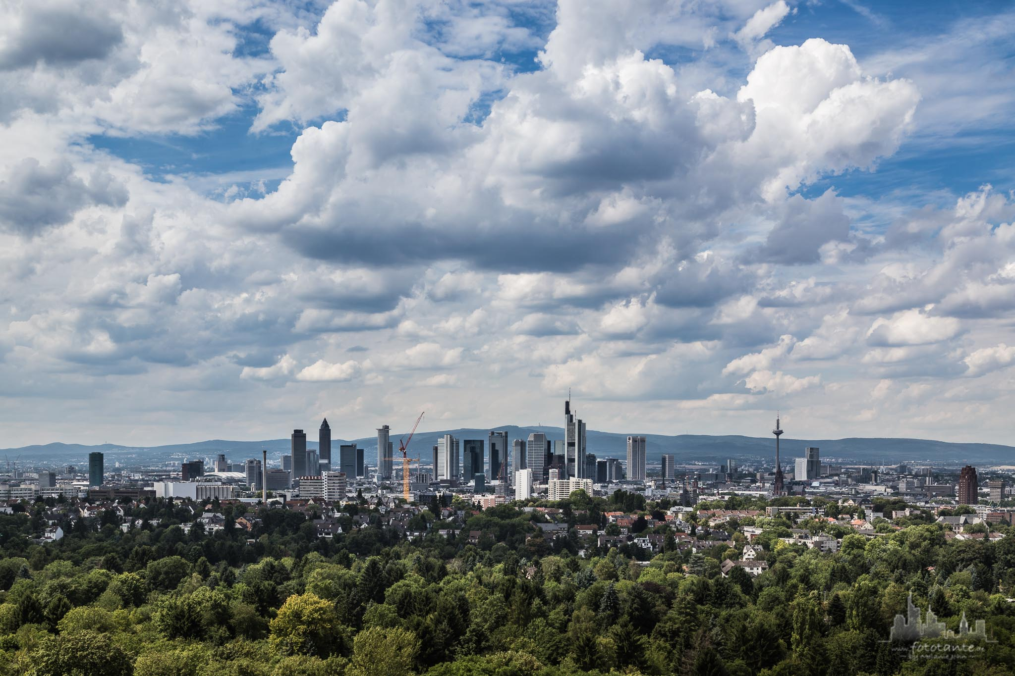 Frankfurt - Goetheturm view, Germany