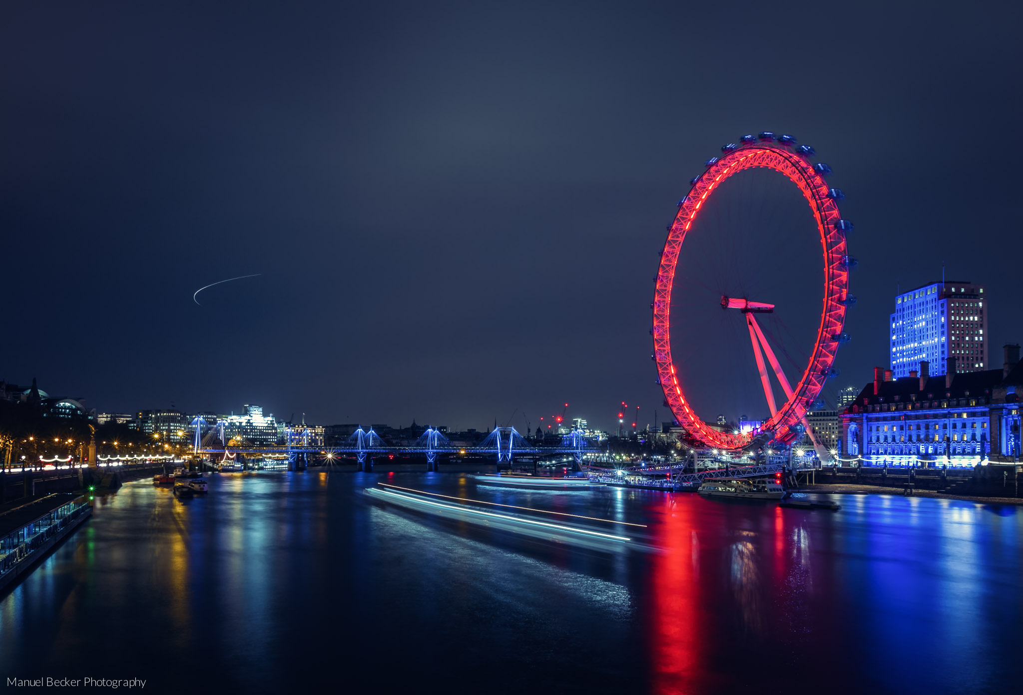 London Eye from Westminster Bridge, United Kingdom