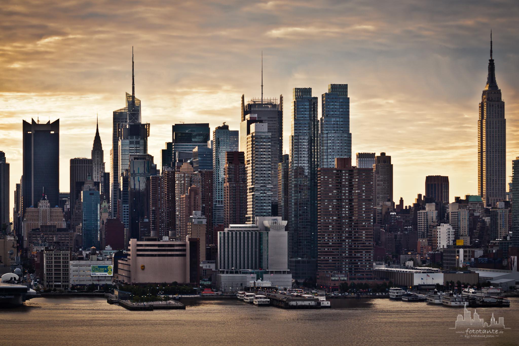 Hamilton Park view to Manhattan, USA
