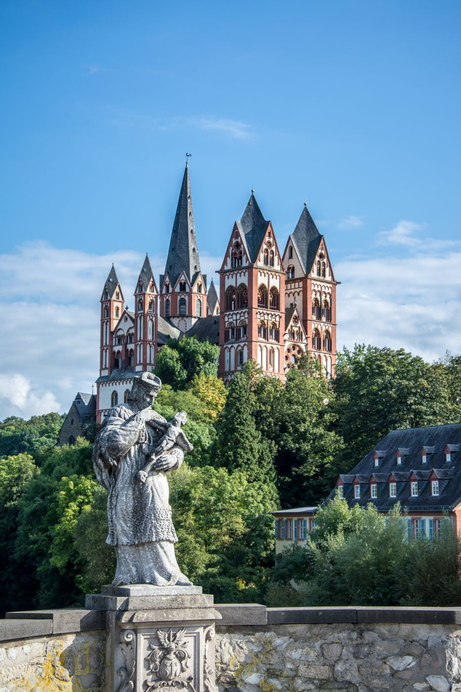St. Nepomuk & Cathedral of Limburg a. d. Lahn, Germany