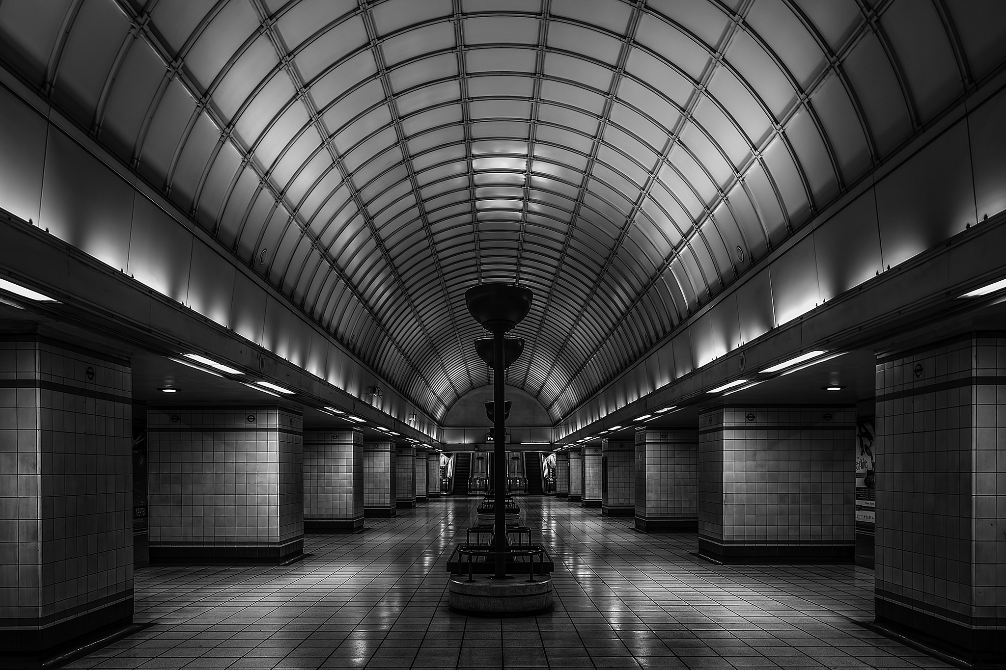 The Concourse at Gants Hill Tube Station, United Kingdom