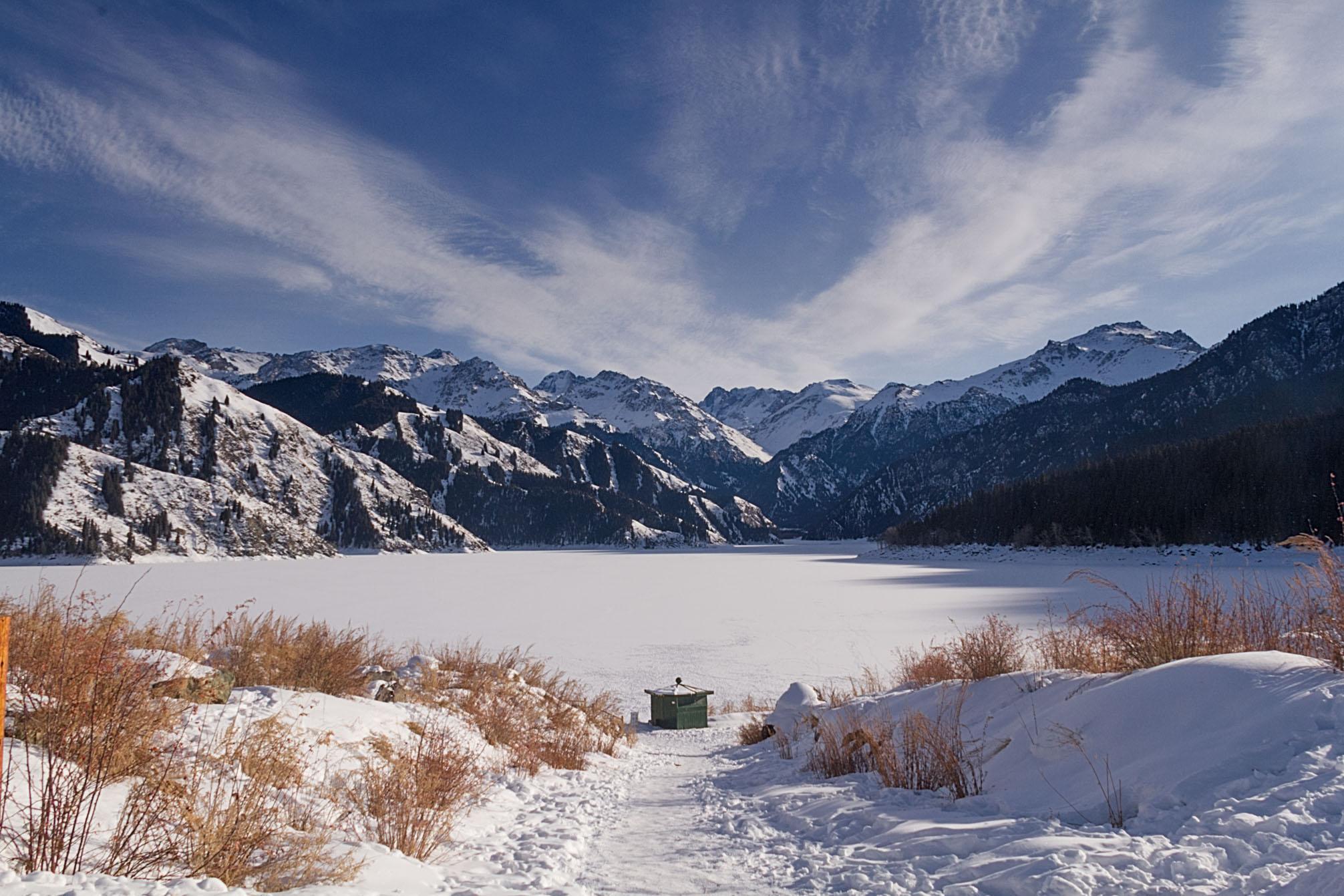 Tian Shan ( 天池 ), the Heavenly Lake, Xinjiang, China