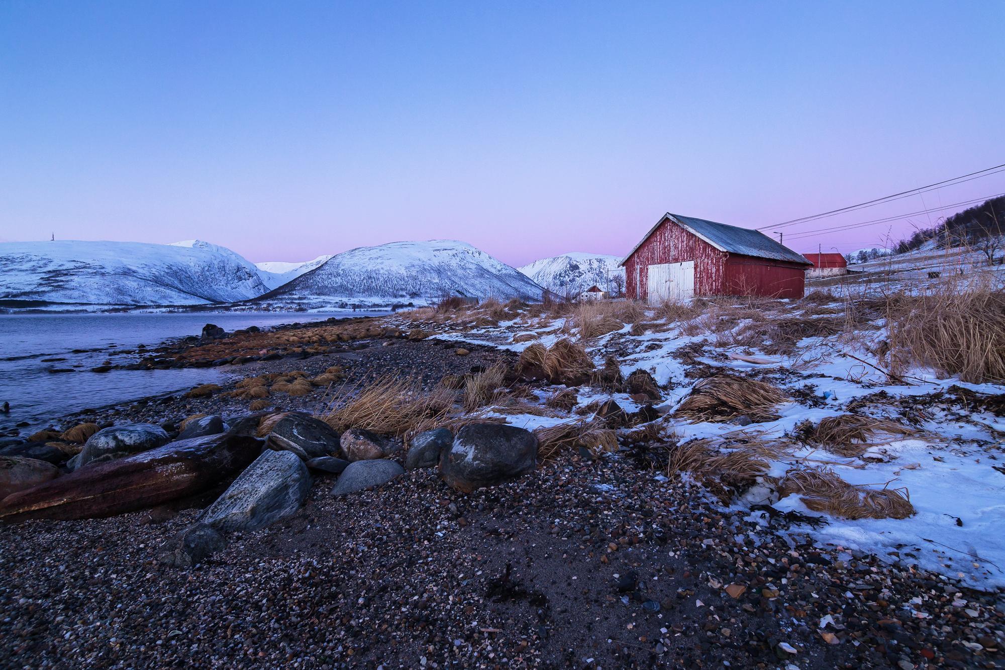 Tromsø - typical Norway House, Norway