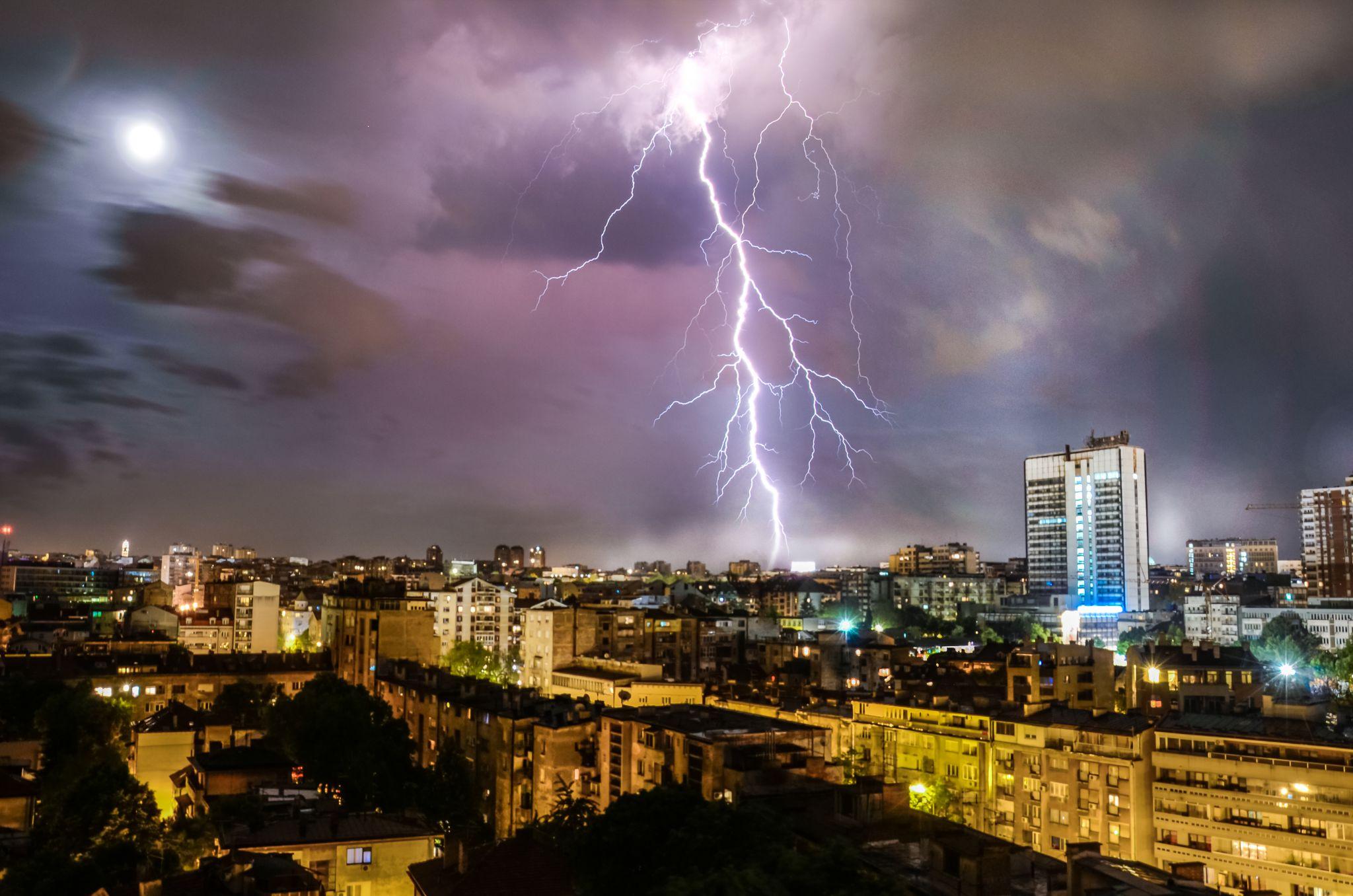 Belgrade thunderstorm, Serbia