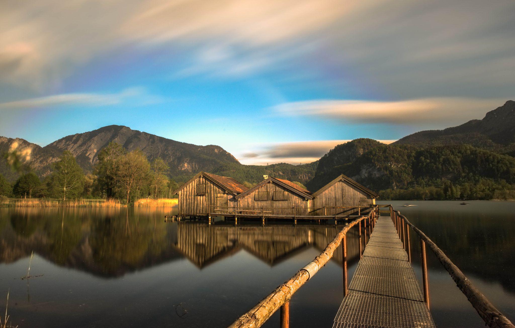 Boathouse at Kochelsee, Germany