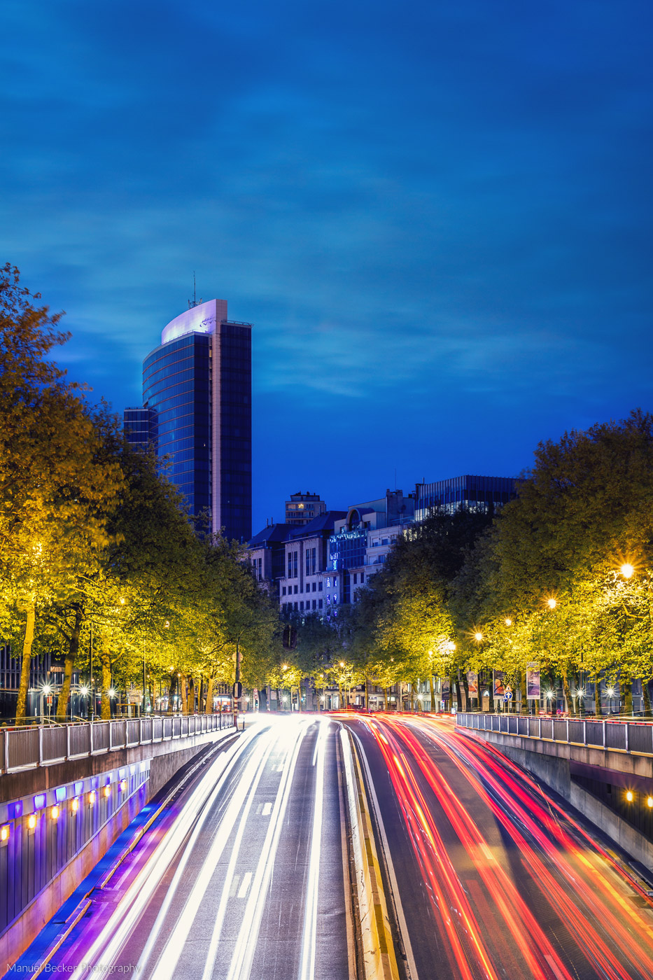 City alley in Brussels, Belgium