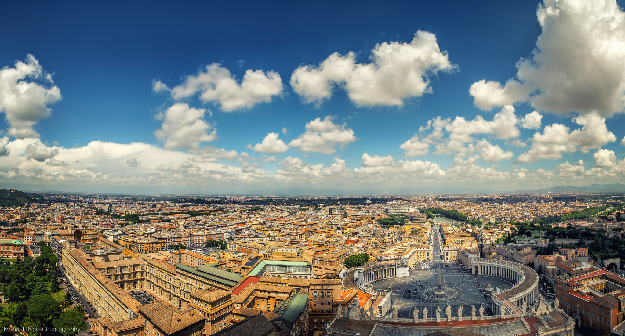 Panorama of Rome from St. Peter's Basilica, Vatican City State