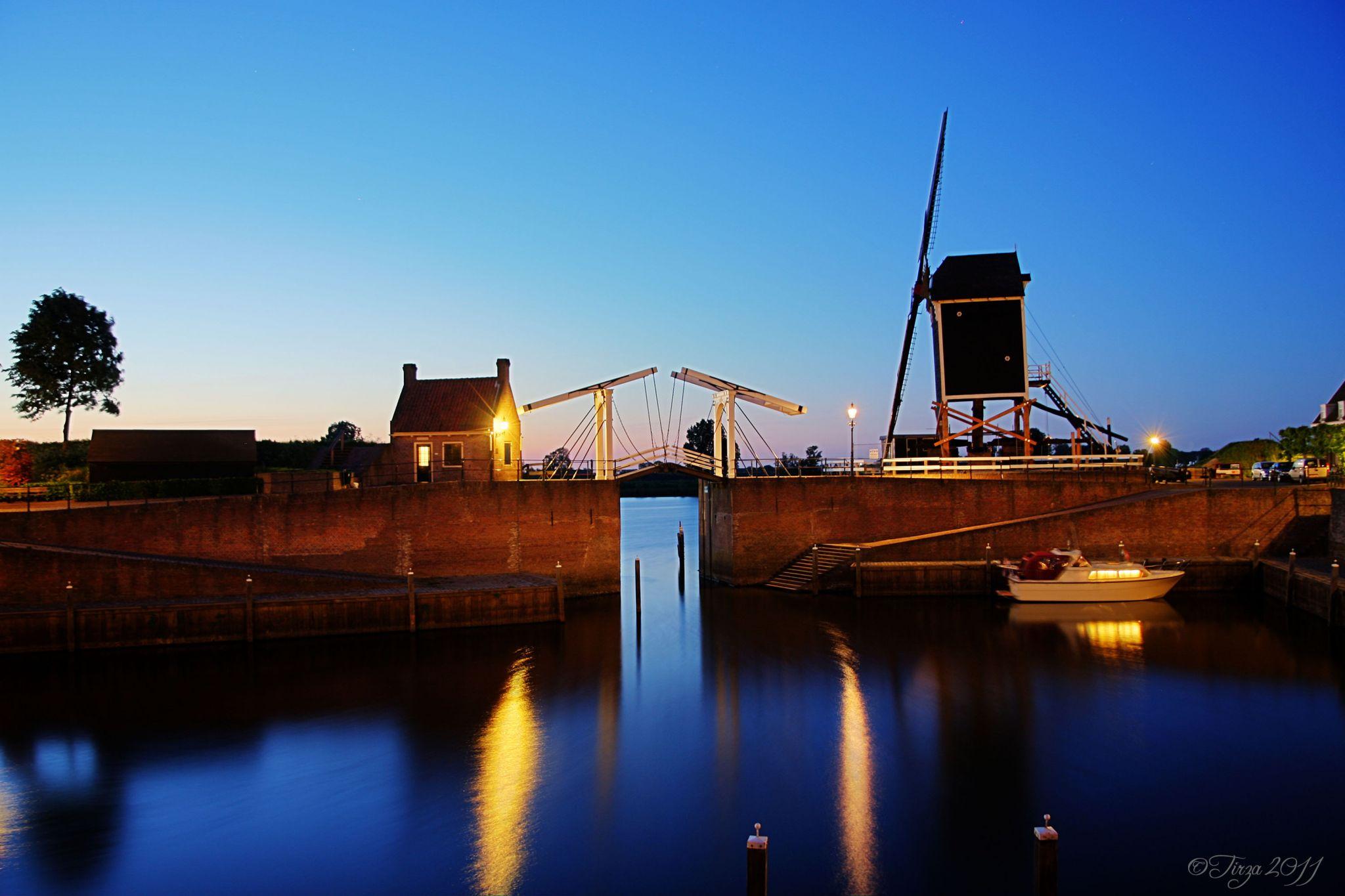 The harbour of Heusden, Netherlands