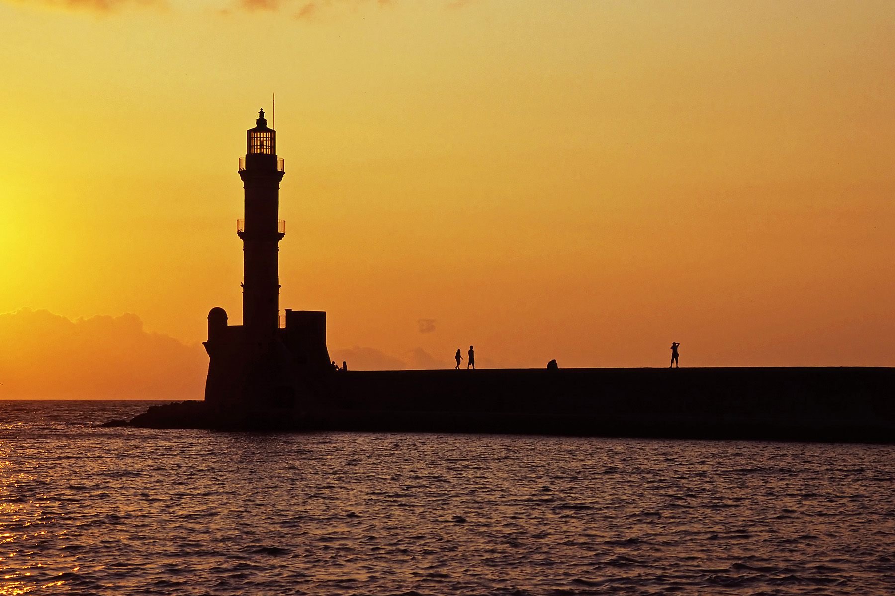 Chania Harbour, Greece
