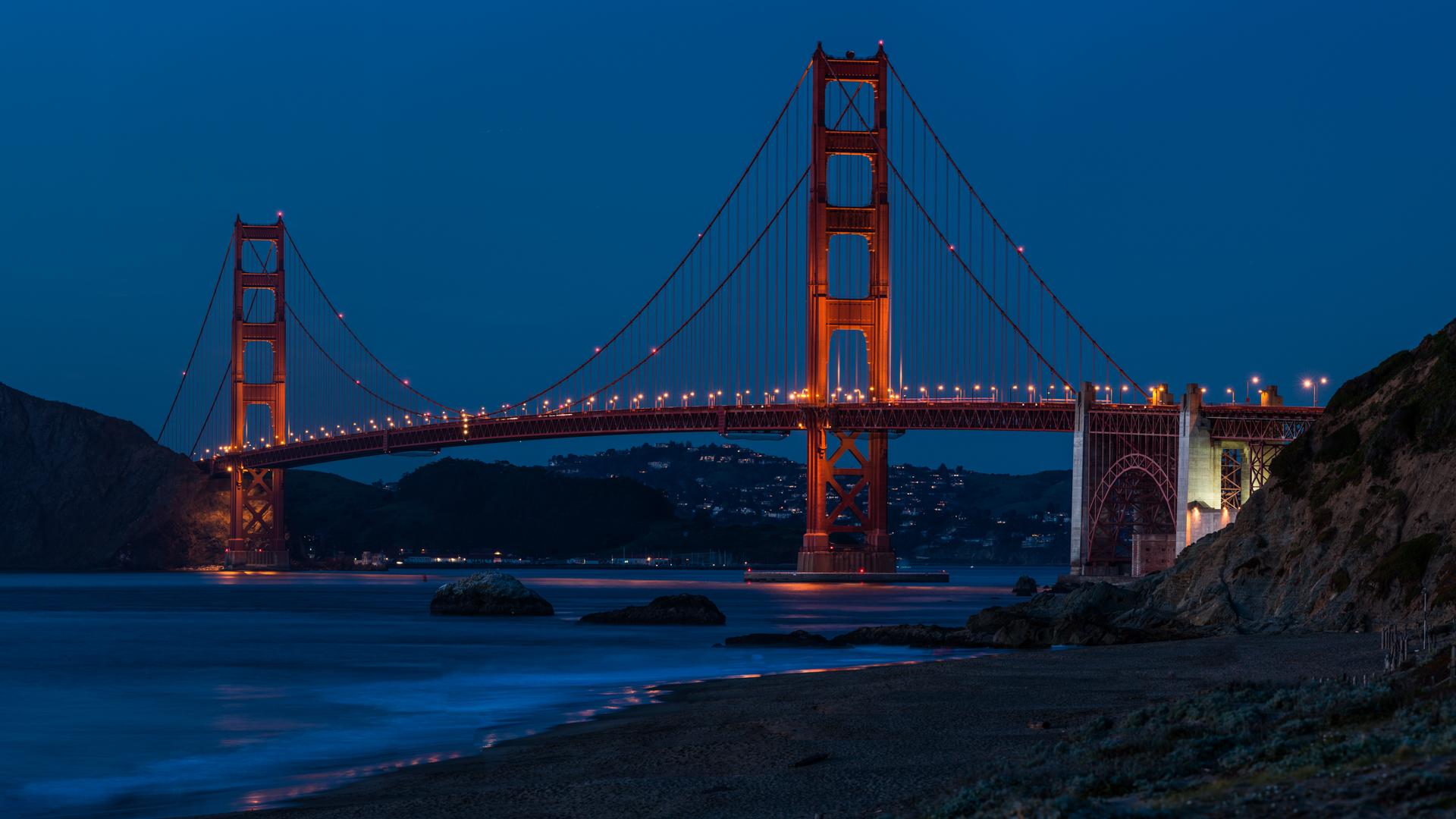 Golden Gate Bridge, Baker Beach, USA