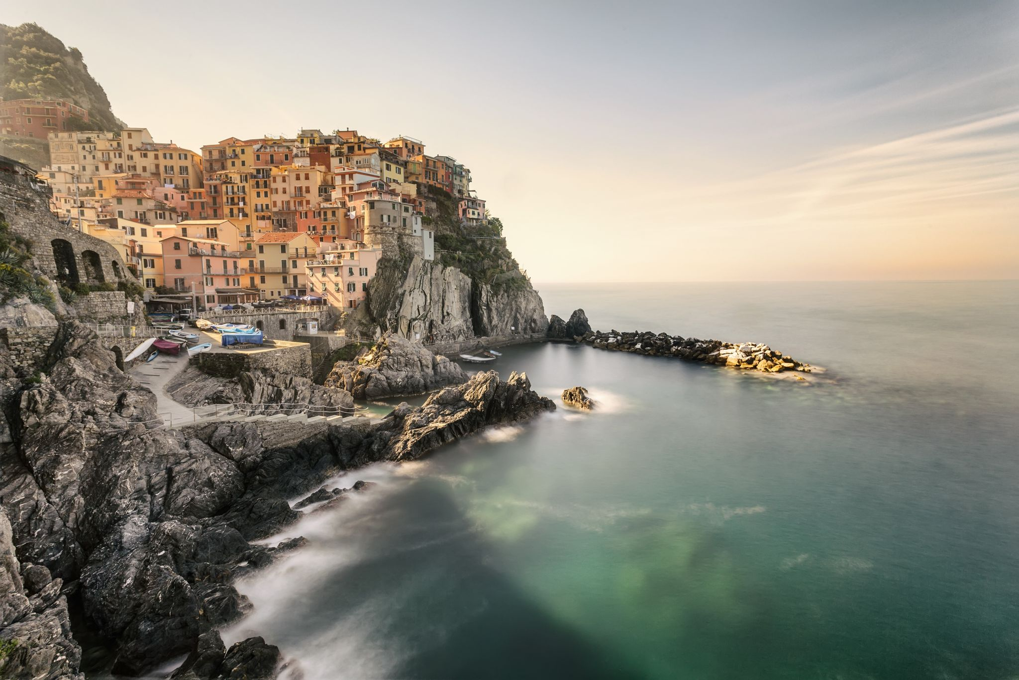 Manarola in the morning, Cinque Terre, Italy