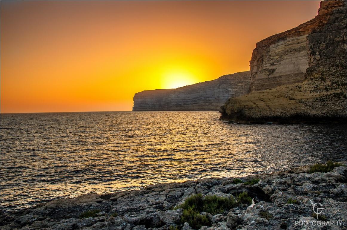 Xlendi Bay Sunset, Malta