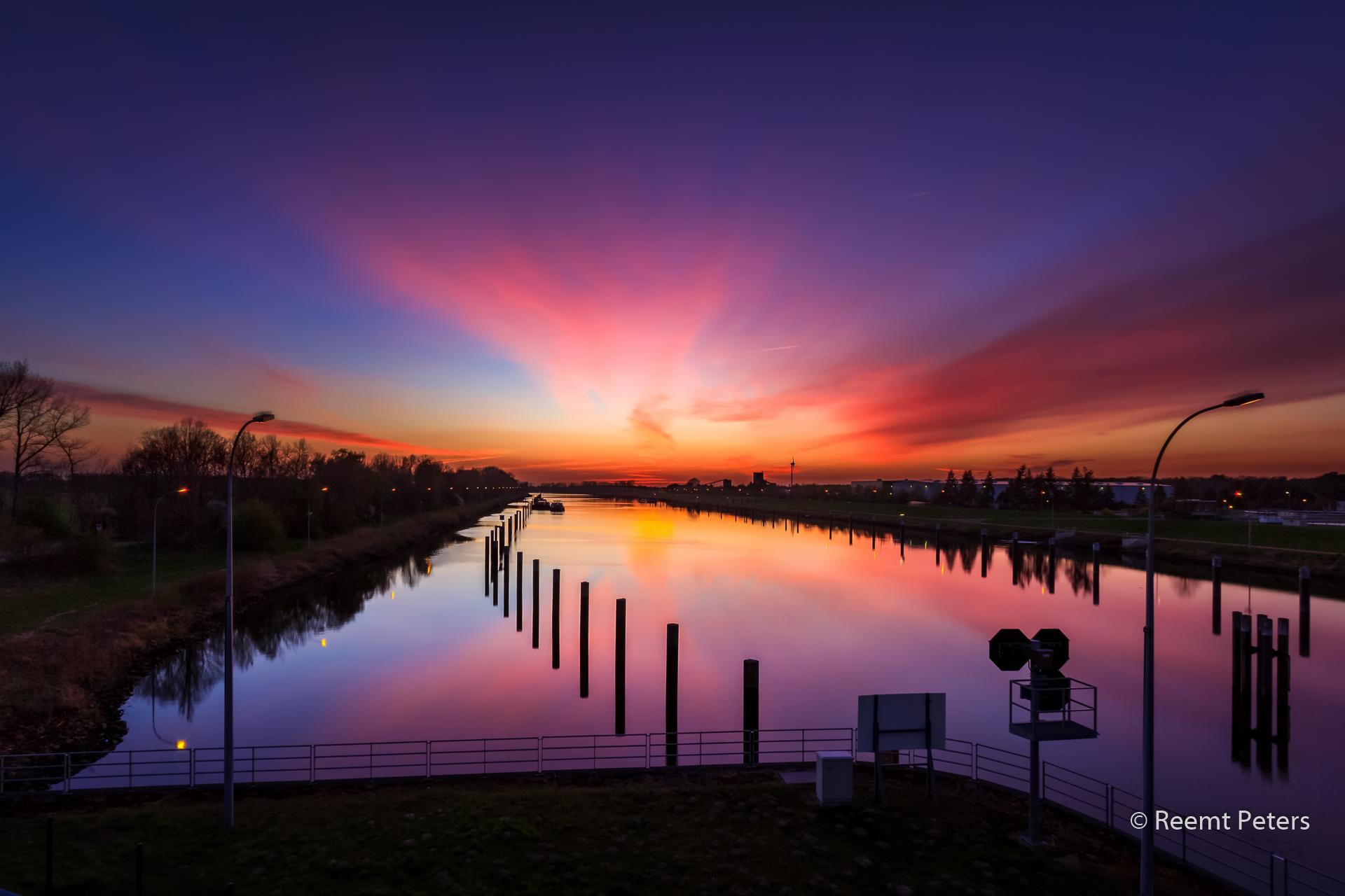 Elbe sunset, Germany