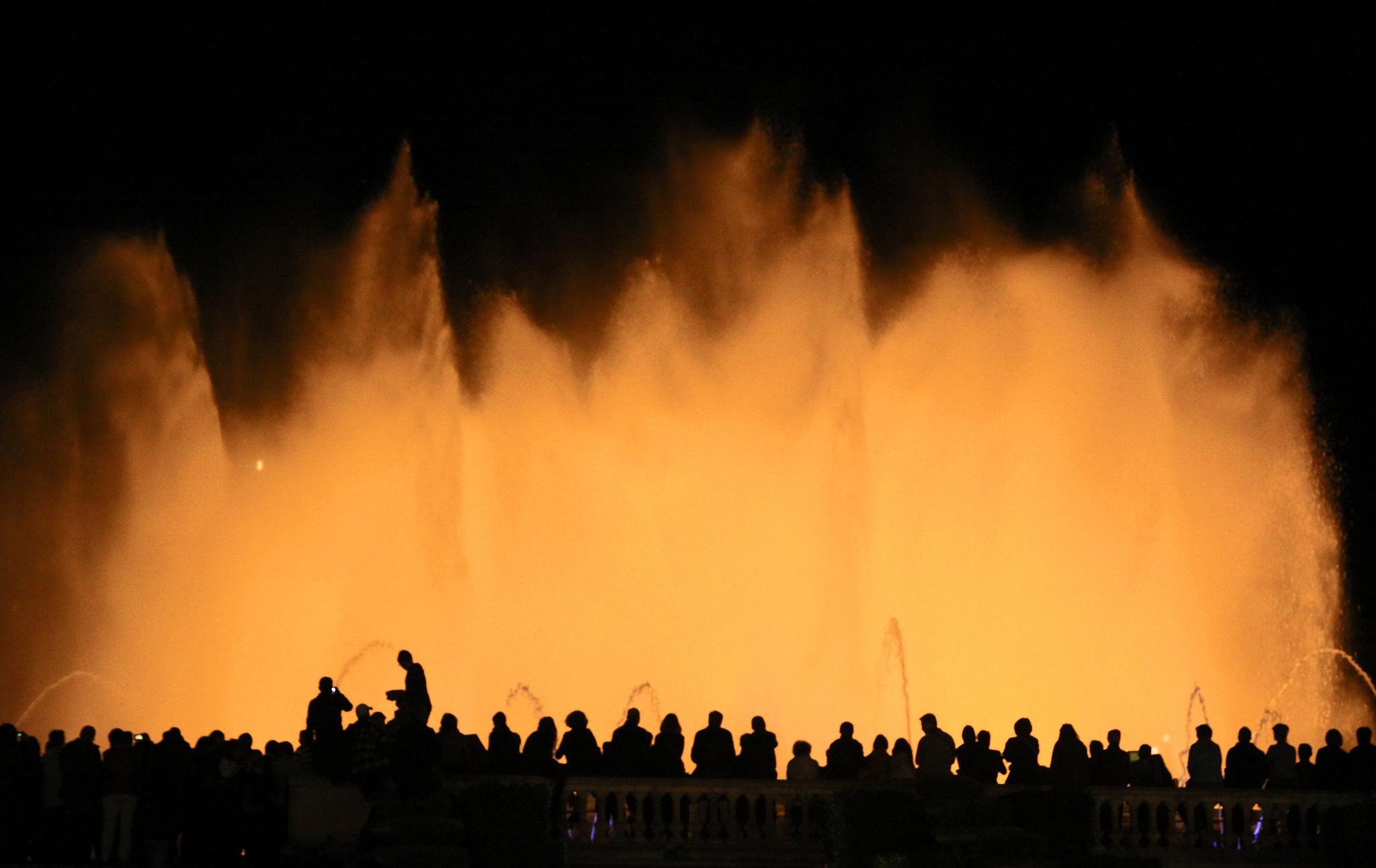 Magic Fountain at Plaça Espanya, Barcelona, Spain