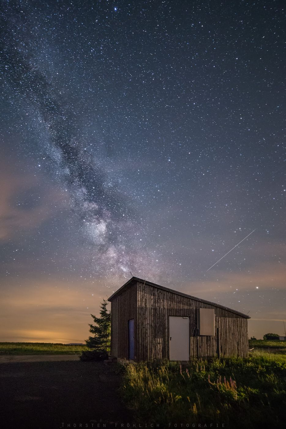 Milky Way about the Wasserkuppe, Germany