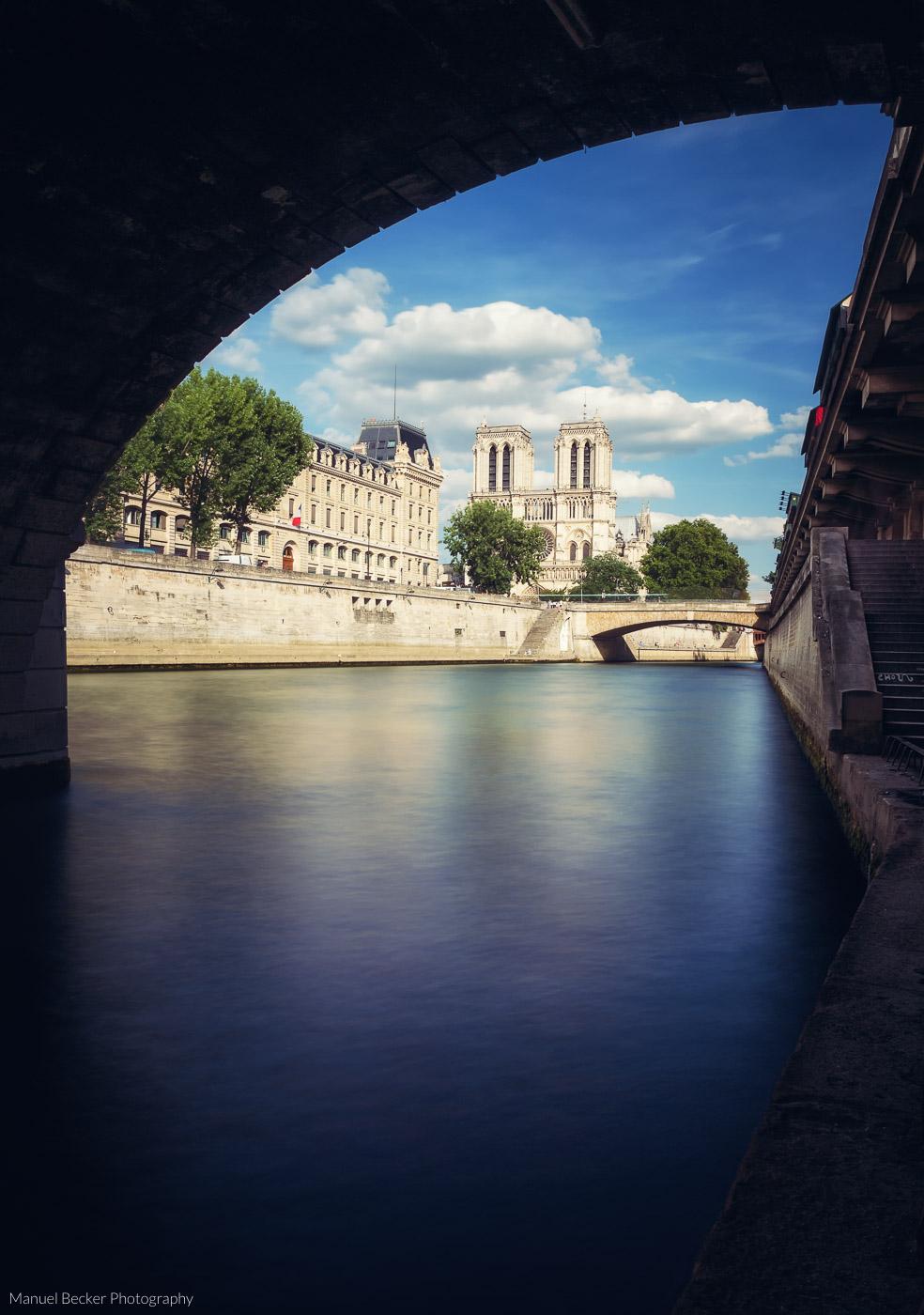 Notre Dame from beyond Pont Saint-Michel, Paris, France