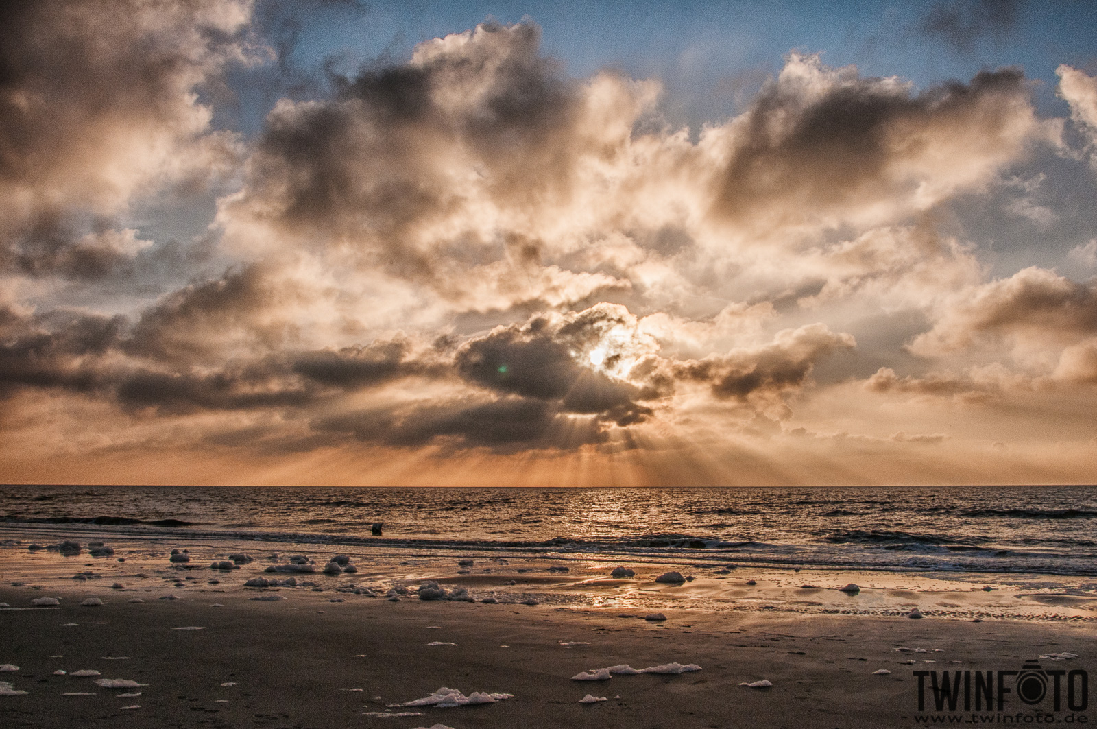 Sunset in Sankt Peter Ording, Germany