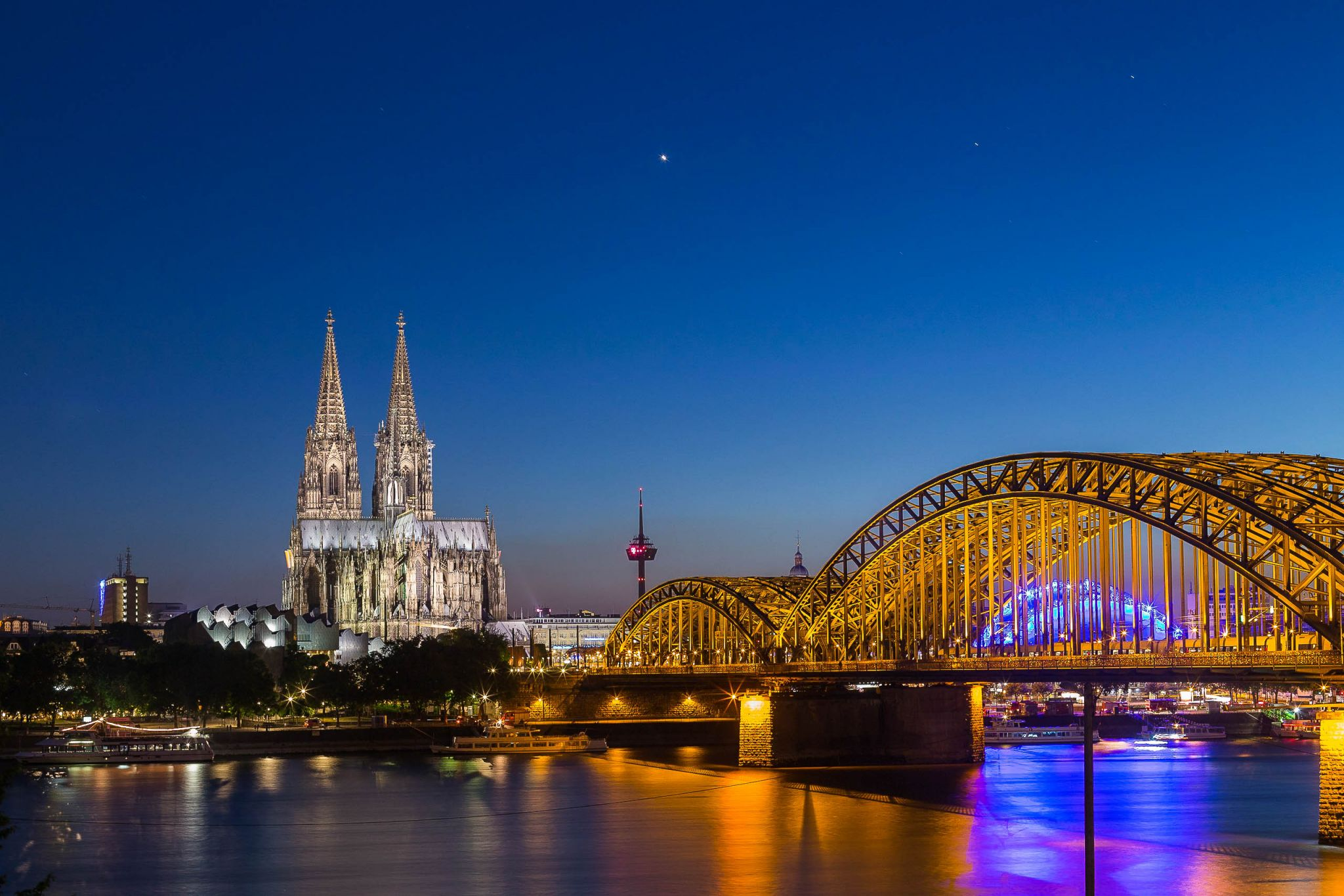View from Hyatt Regency Cologne, Germany
