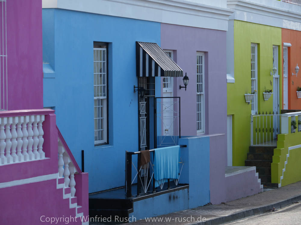 bunte Häuser im Stadtteil Bo-Kaap, South Africa