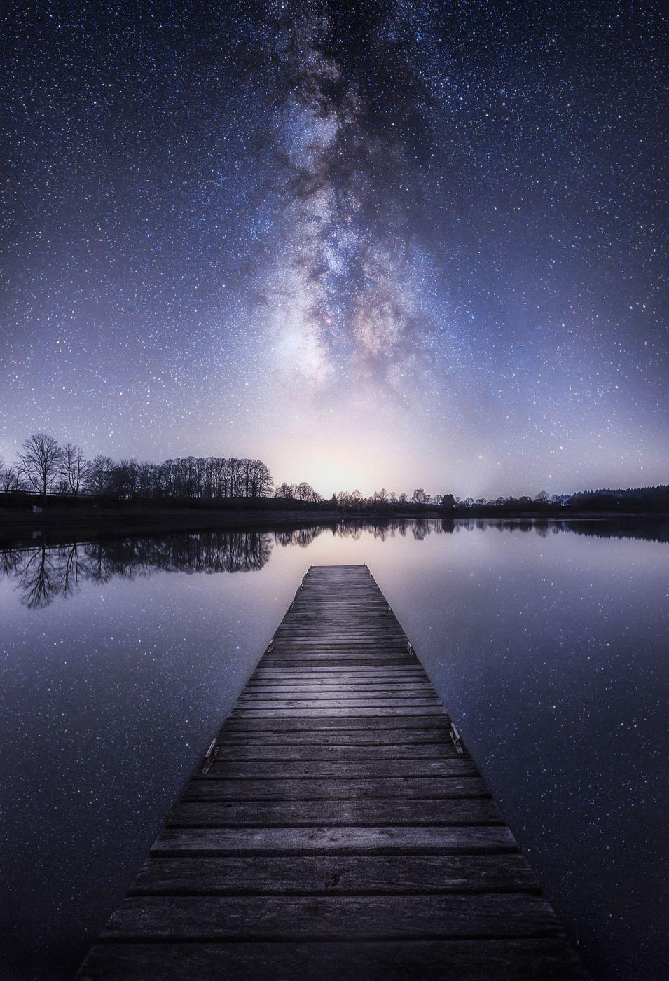 Lake in Losheim, Germany