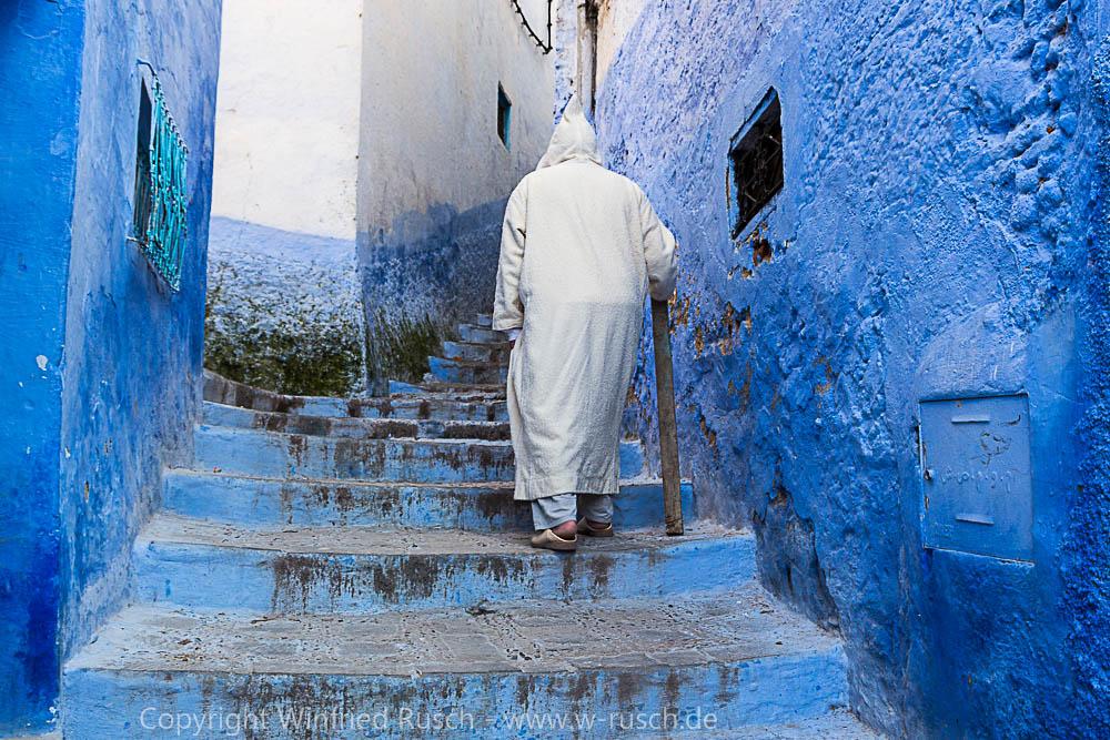 Mann in Chefchaouen, Morocco