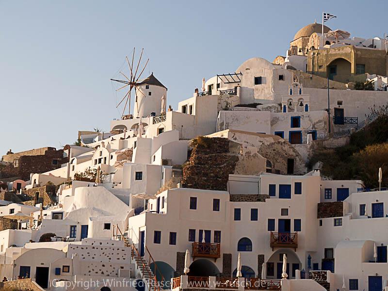 Oia auf Santorini, Greece