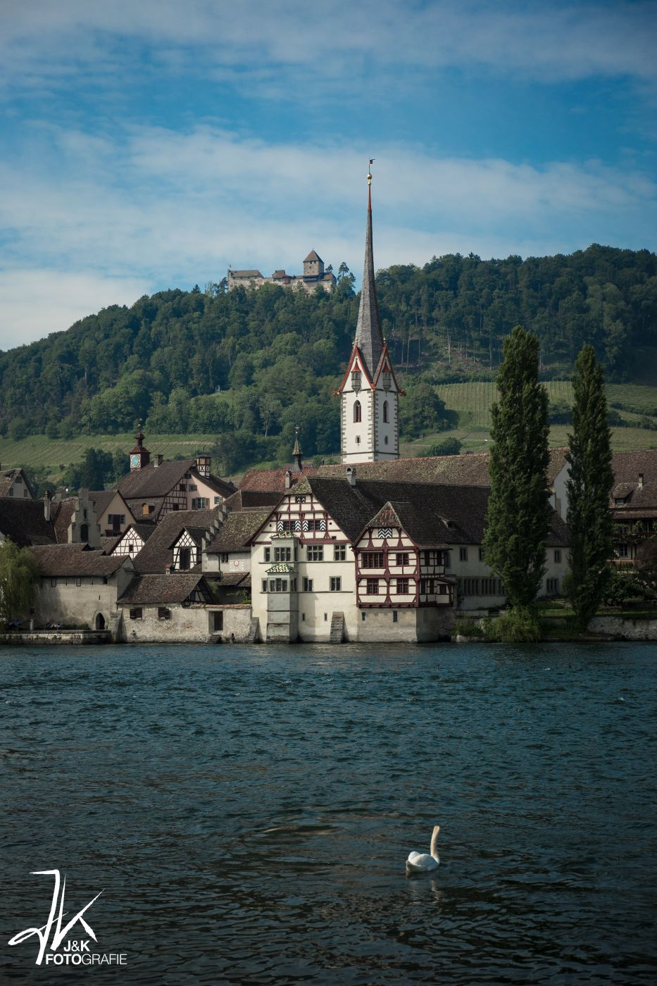 Stein am Rhein mit Burg Hohenklingen, Switzerland
