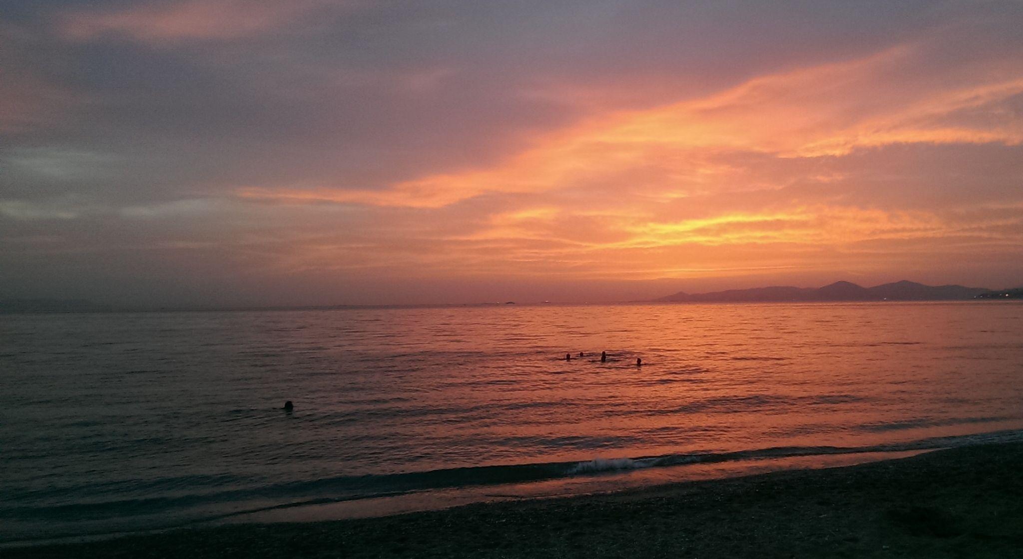 Sunset Swim, Greece