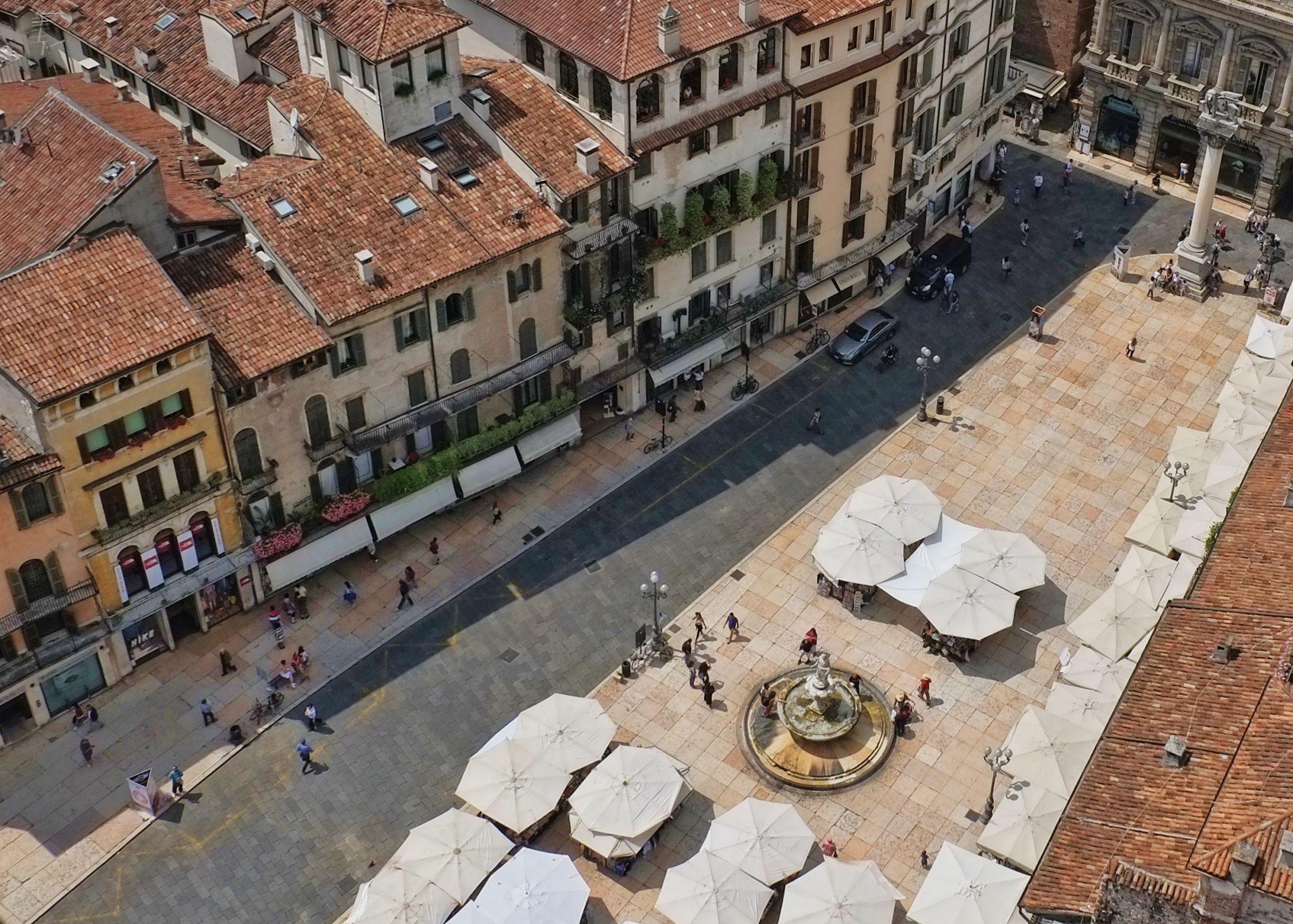View from Torre dei Lamberti, Verona, Italy